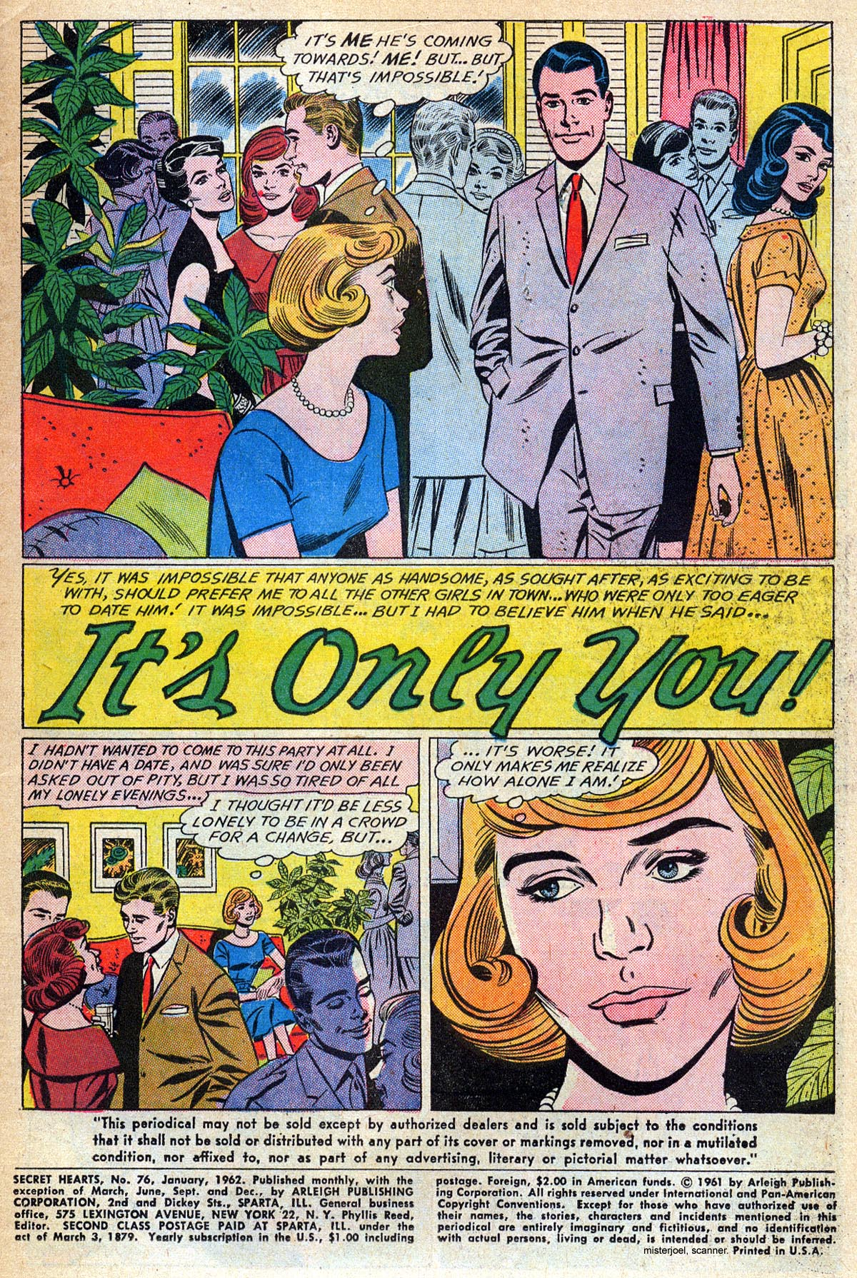 Read online Secret Hearts comic -  Issue #76 - 3
