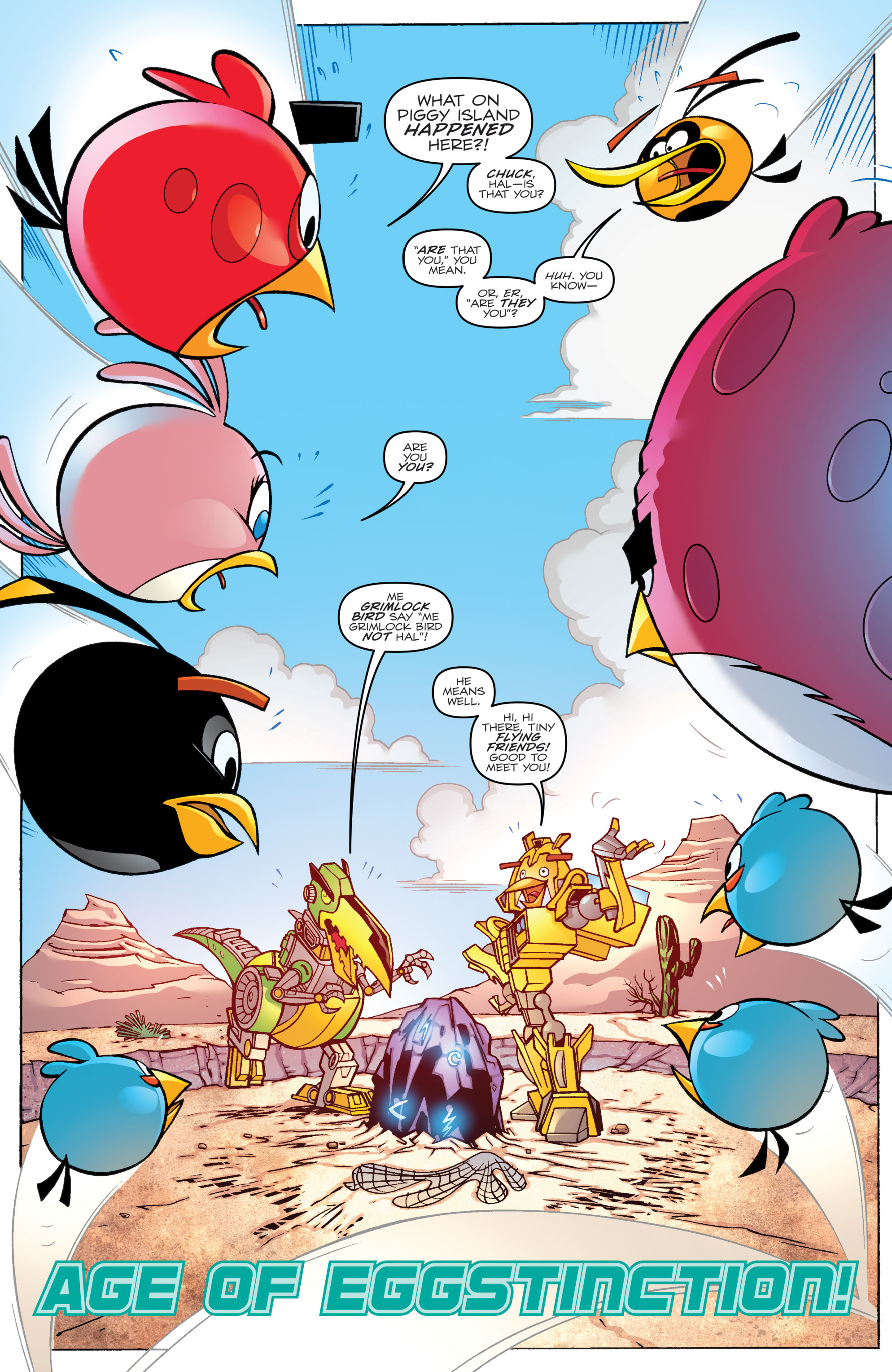 Read online Angry Birds Transformers comic -  Issue #2 - 3