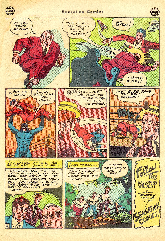 Read online Sensation (Mystery) Comics comic -  Issue #57 - 50