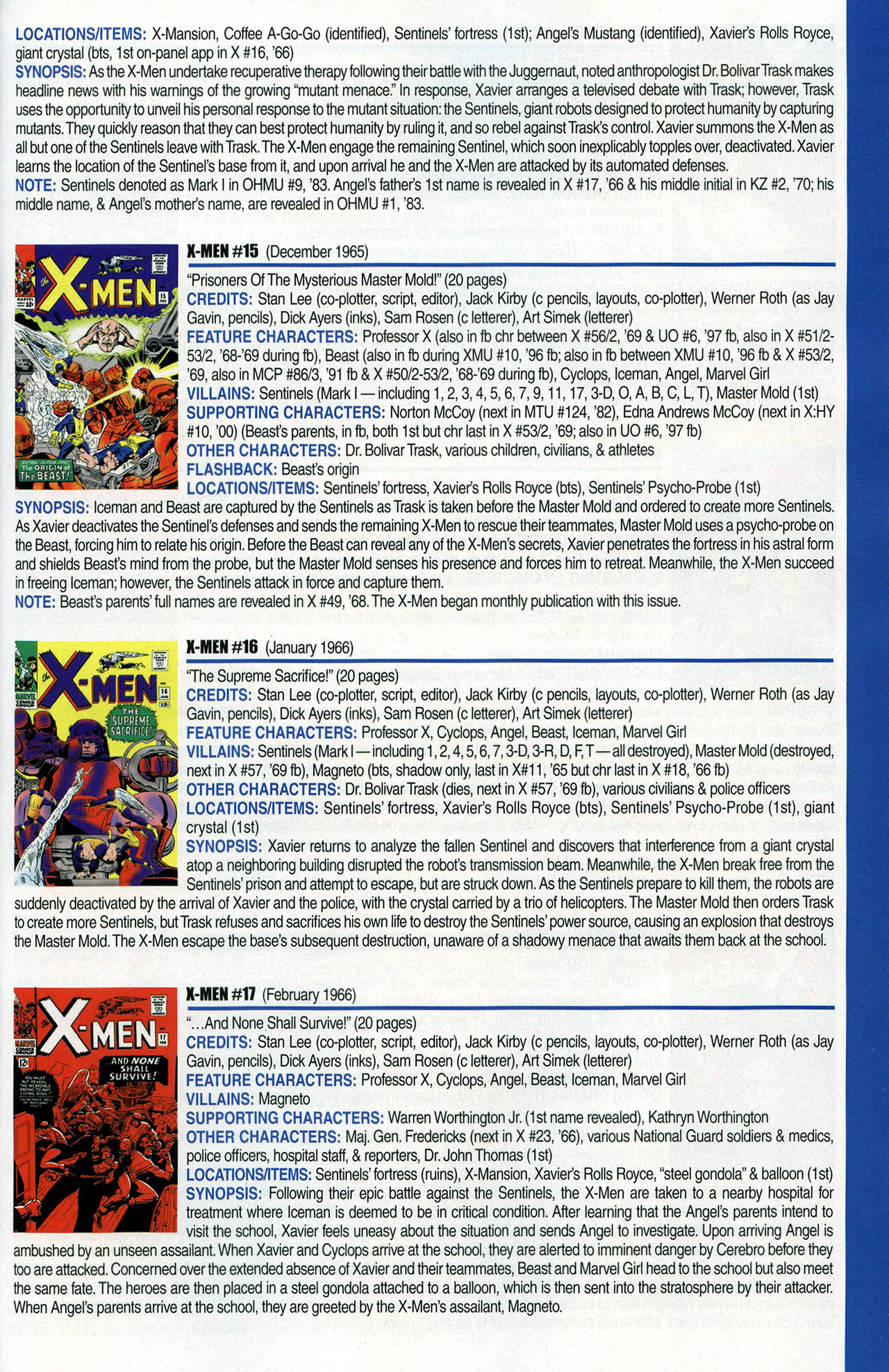 Read online Official Index to the Marvel Universe comic -  Issue #1 - 51