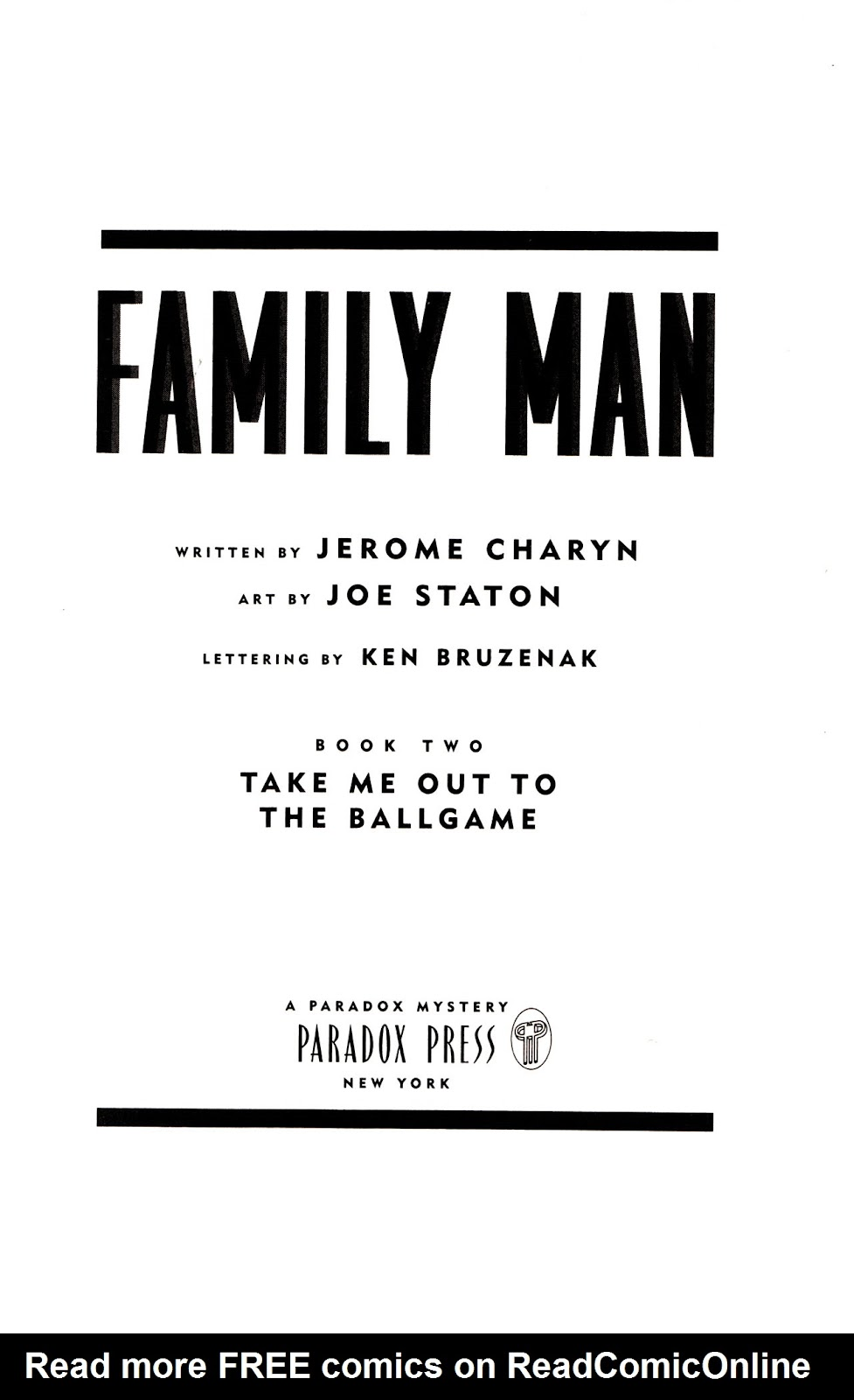 Read online Family Man comic -  Issue #2 - 4