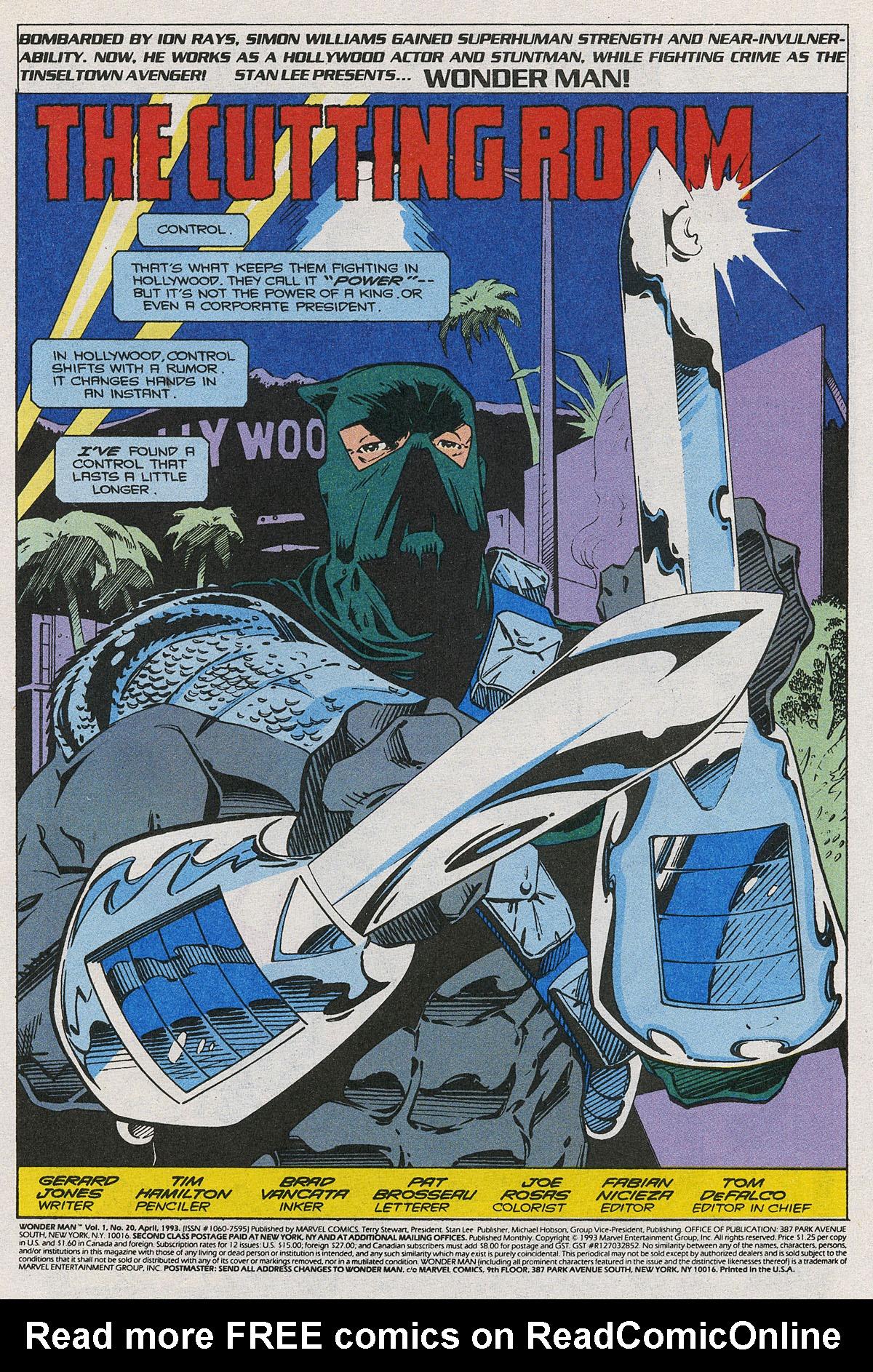 Read online Wonder Man (1991) comic -  Issue #20 - 2