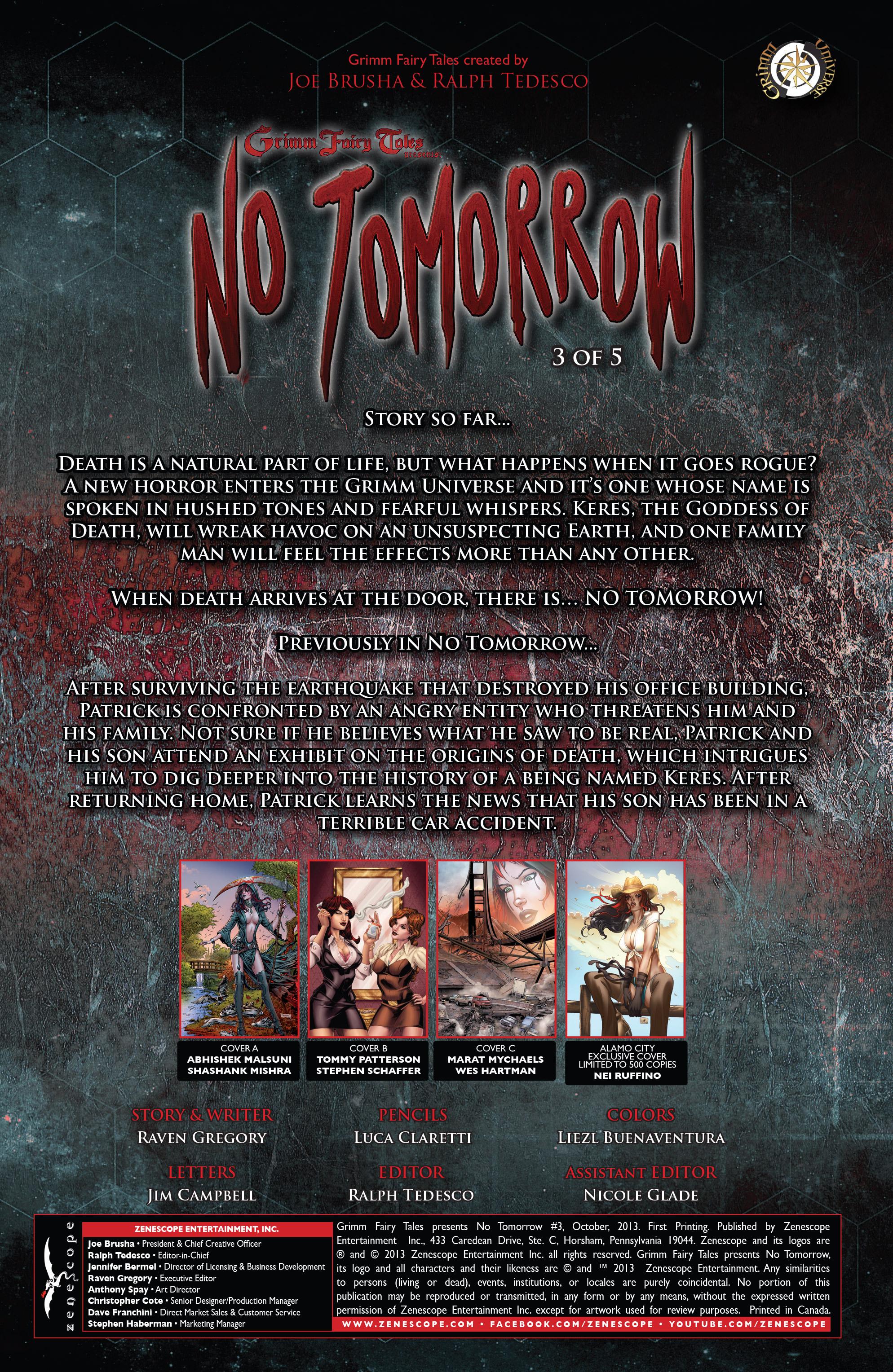 Read online Grimm Fairy Tales presents No Tomorrow comic -  Issue # TPB - 52