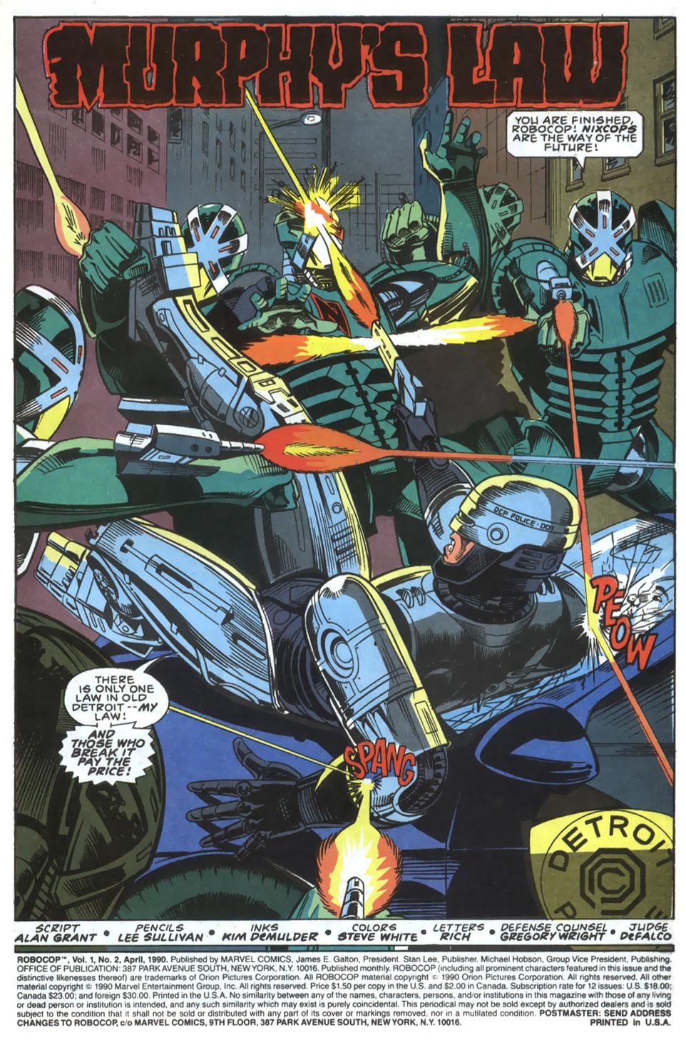 Read online Robocop (1990) comic -  Issue #2 - 2