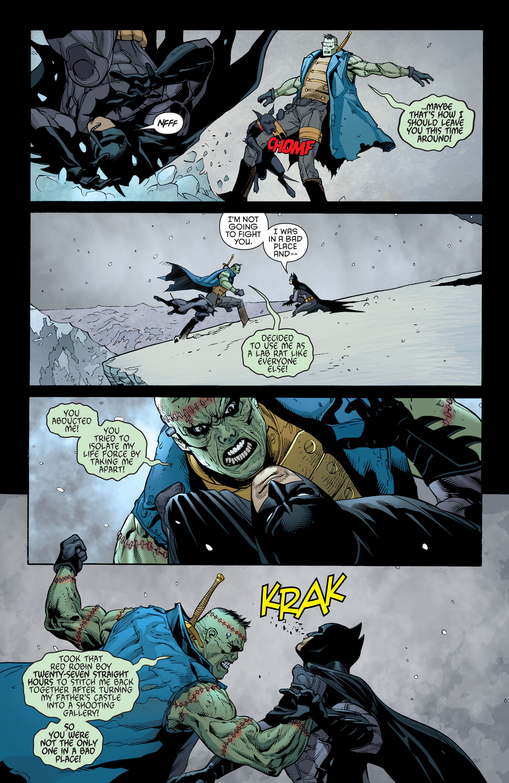Read online Batman and Robin (2011) comic -  Issue #31 - Batman and Frankenstein - 7