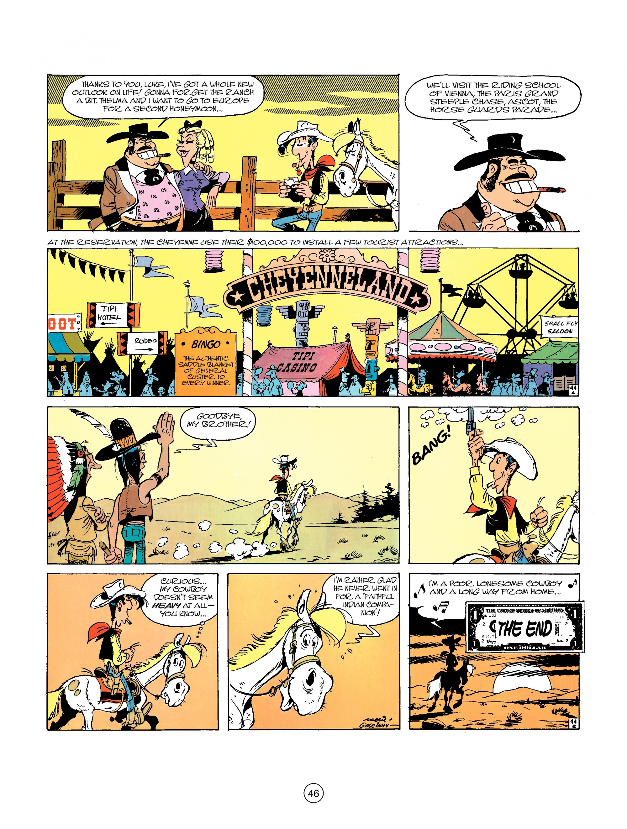 Read online A Lucky Luke Adventure comic -  Issue #26 - 46