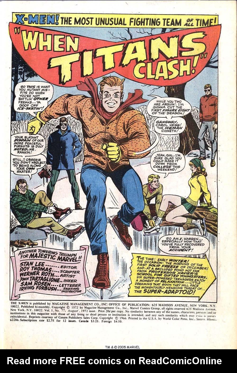 Read online Uncanny X-Men (1963) comic -  Issue #77 - 3