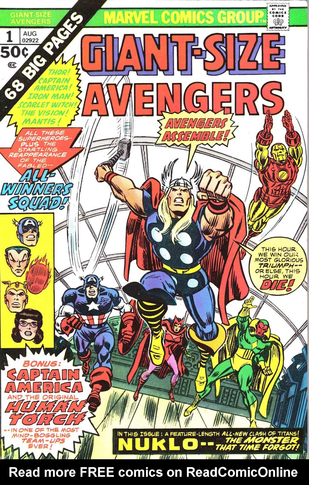 Giant-Size Avengers (1974) issue 1 - Page 1