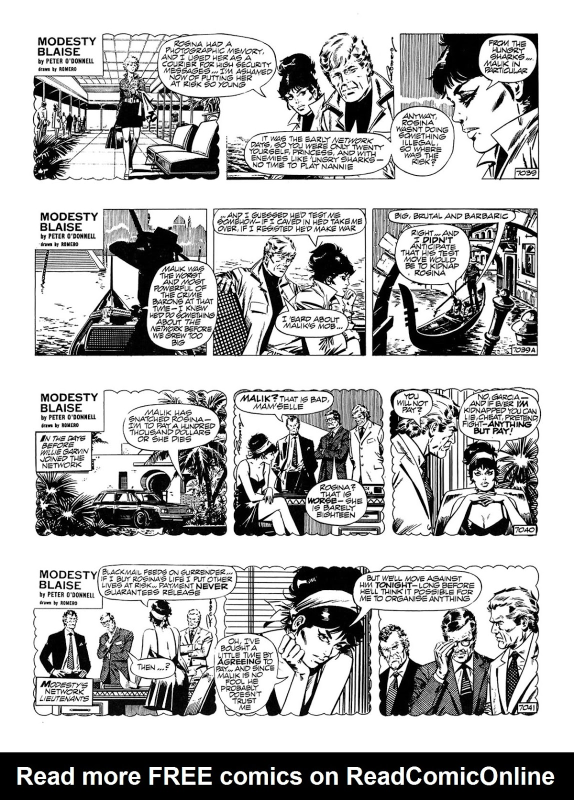 Read online Modesty Blaise Live bait comic -  Issue # TPB - 3