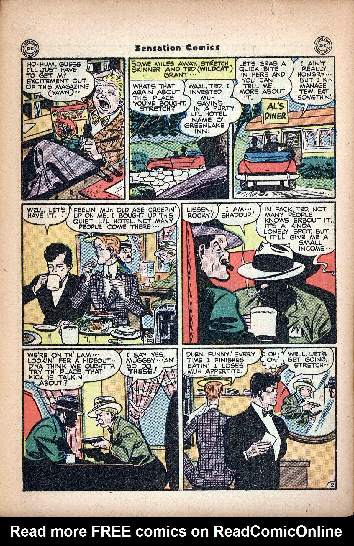 Read online Sensation (Mystery) Comics comic -  Issue #62 - 44