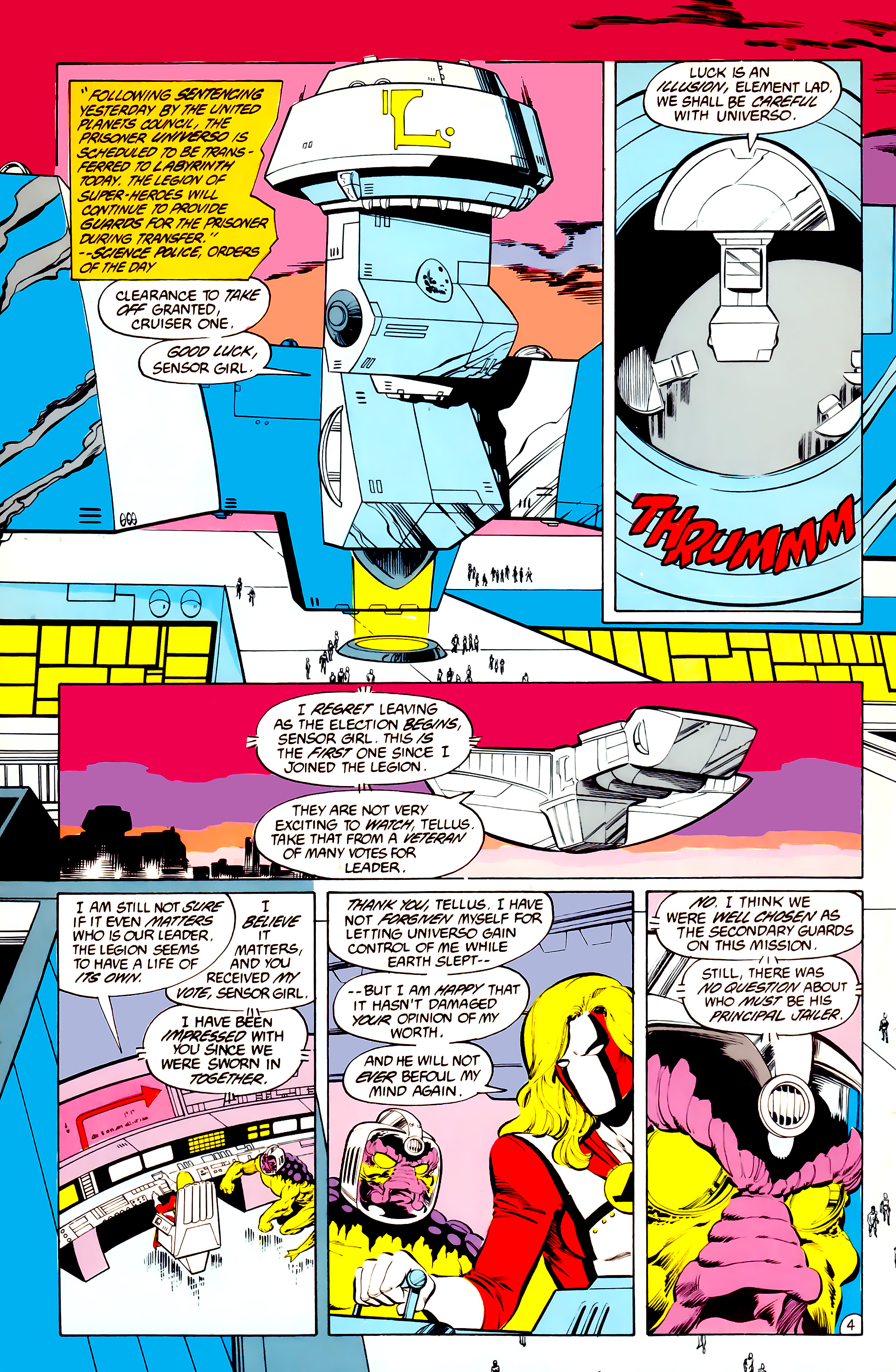Legion of Super-Heroes (1984) 36 Page 4