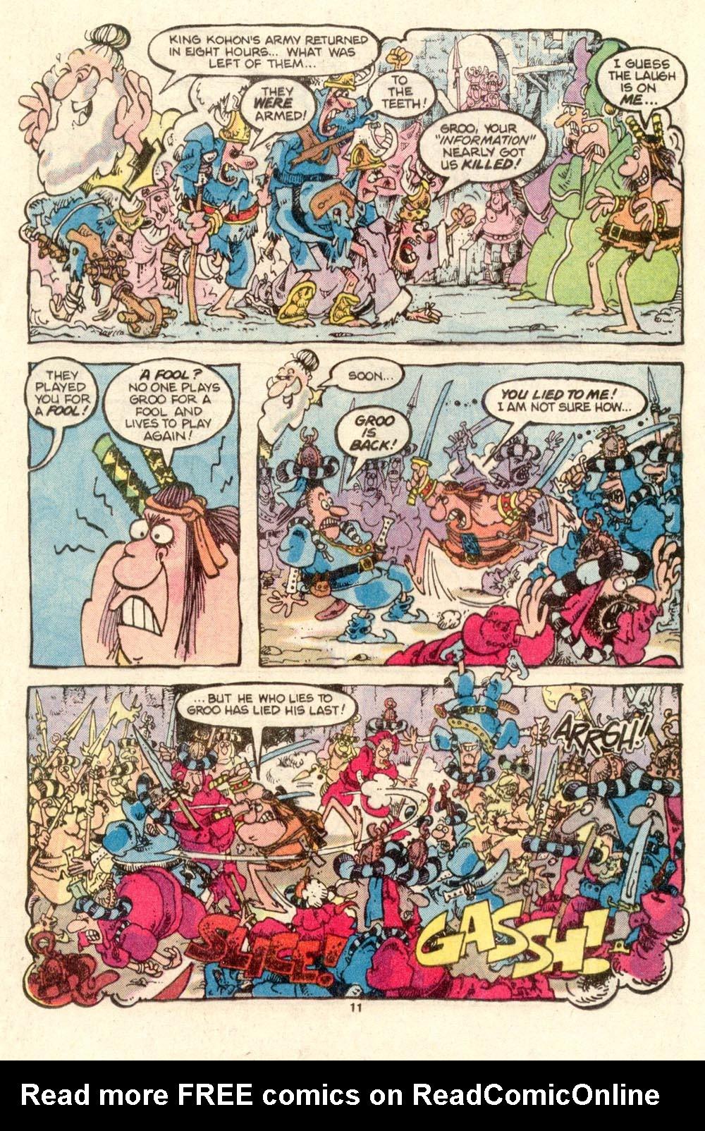 Read online Sergio Aragonés Groo the Wanderer comic -  Issue #27 - 11