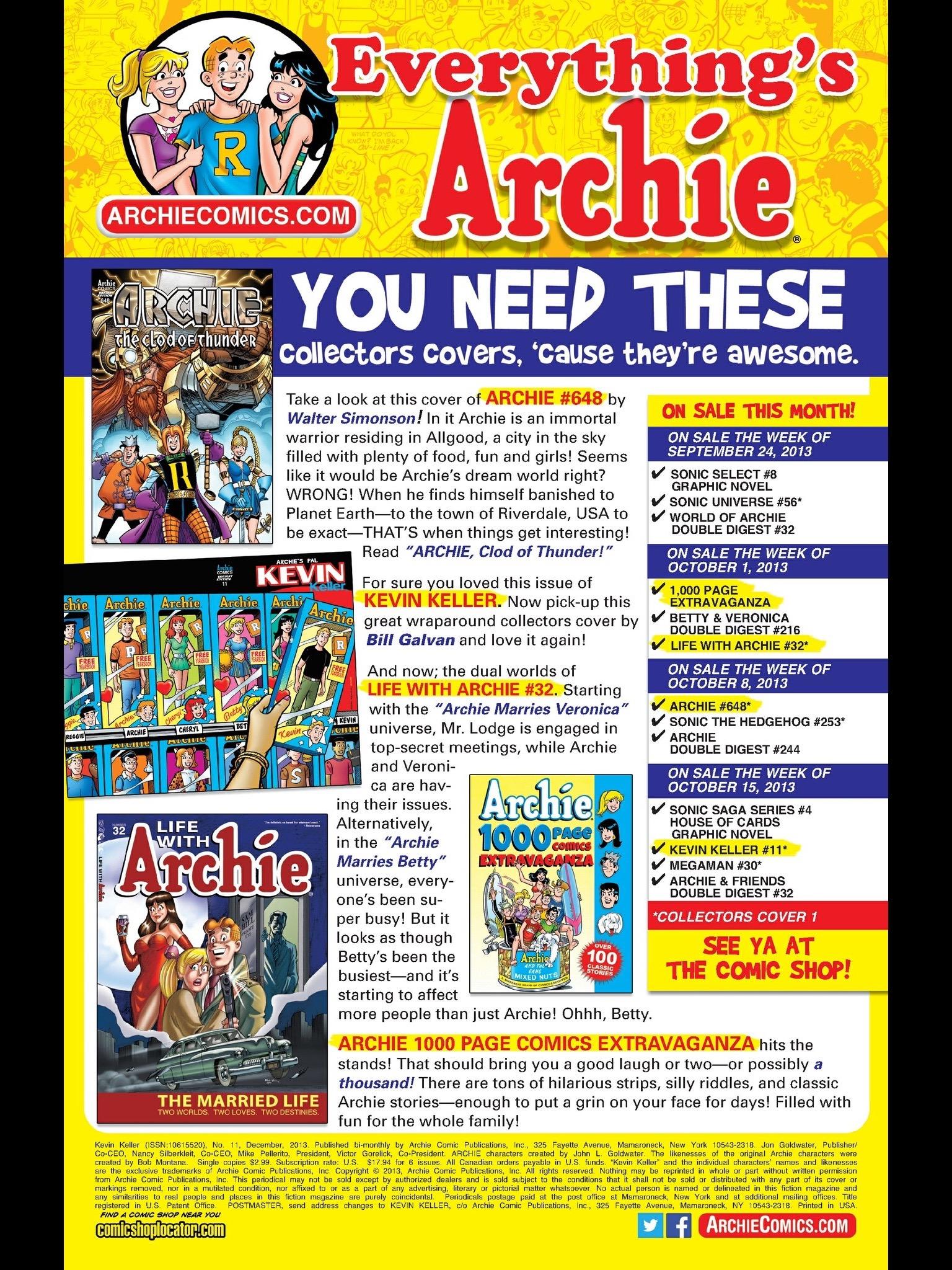 Read online Kevin Keller comic -  Issue #11 - 24
