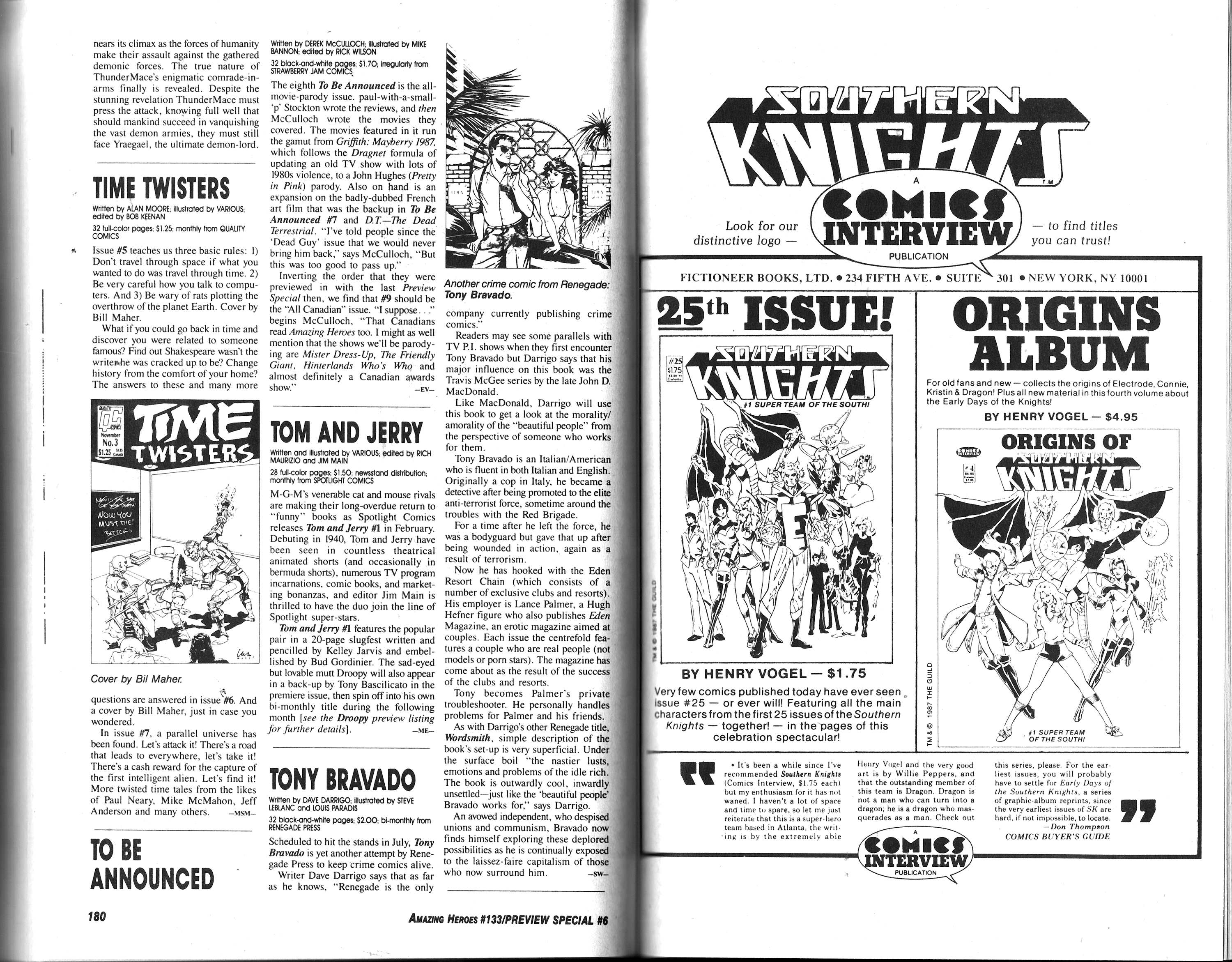 Read online Amazing Heroes comic -  Issue #133 - 92