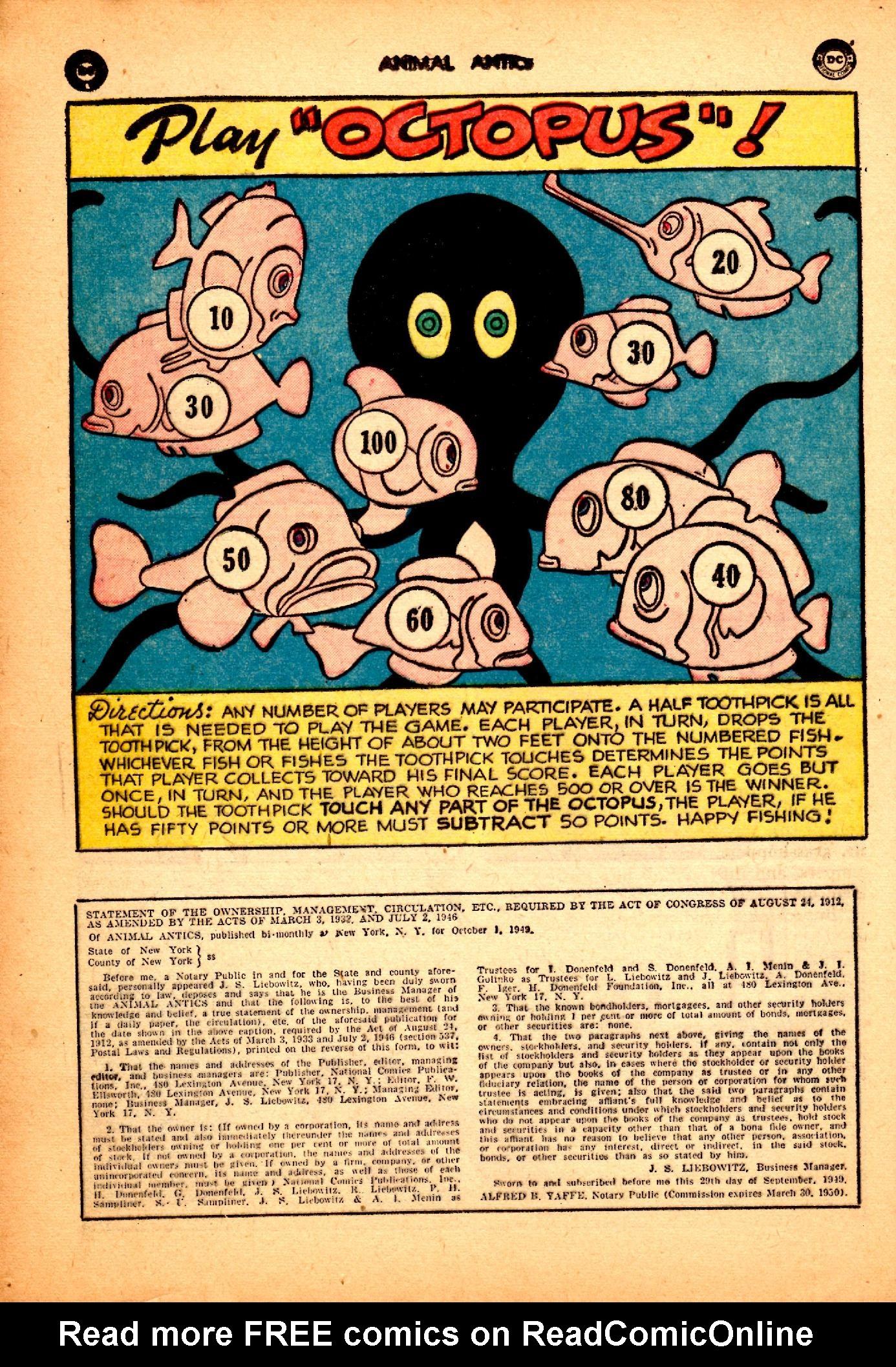 Read online Animal Antics comic -  Issue #25 - 34