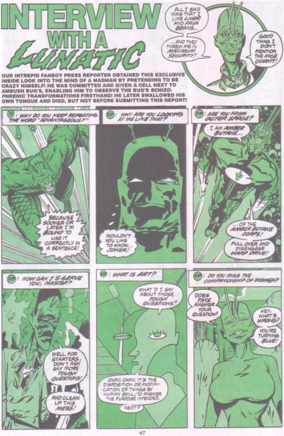Read online Ambush Bug Nothing Special comic -  Issue # Full - 40