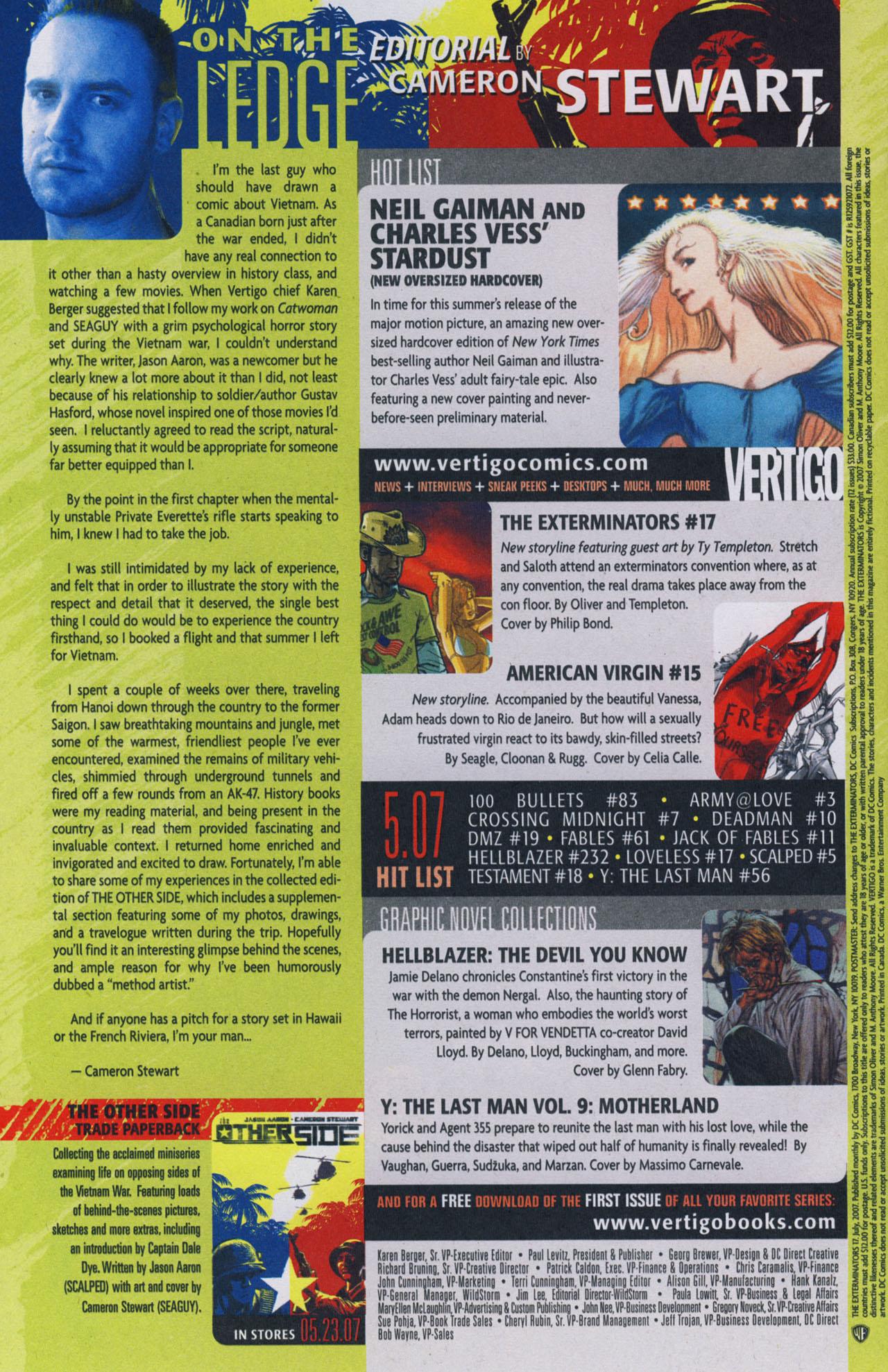 Read online The Exterminators comic -  Issue #17 - 22