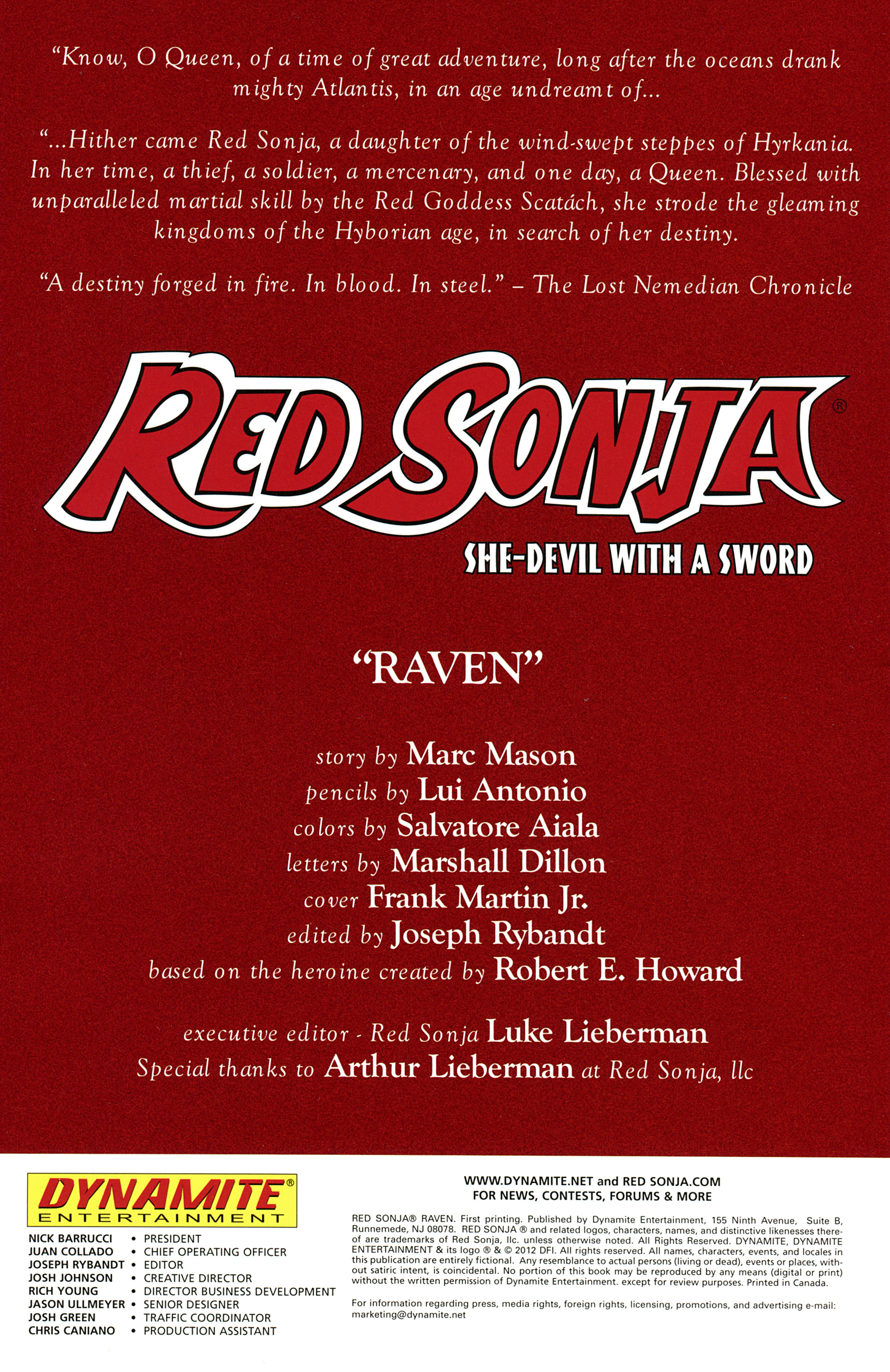 Red Sonja Raven #Full - Read Red Sonja Raven Issue #Full Page 2