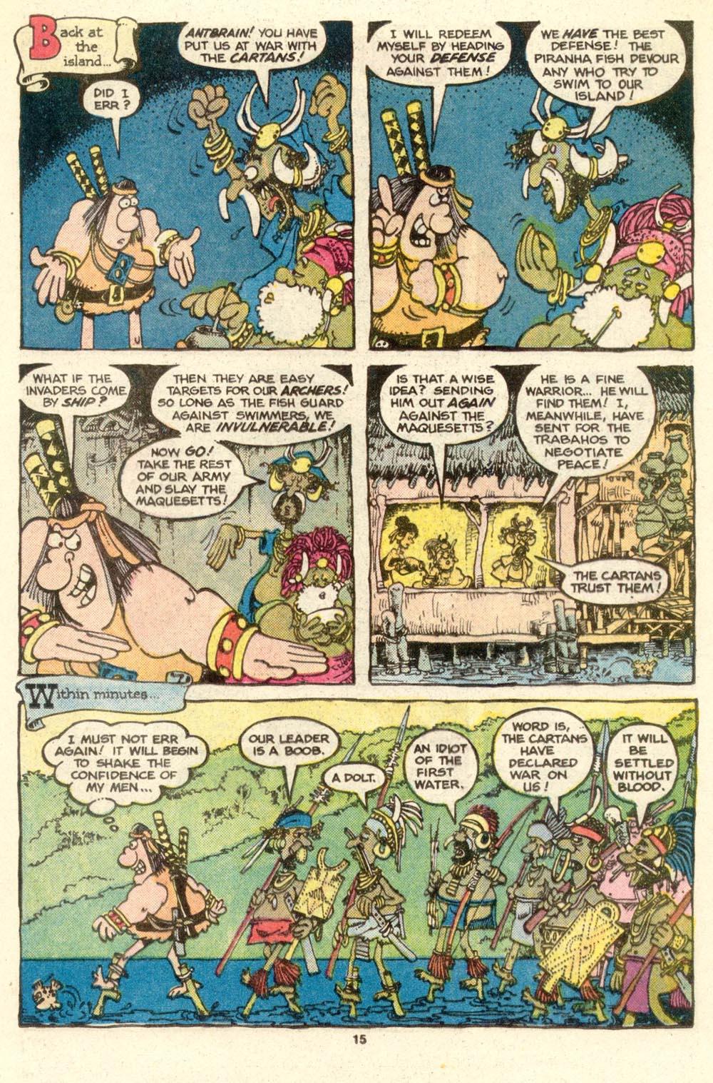 Read online Sergio Aragonés Groo the Wanderer comic -  Issue #17 - 15