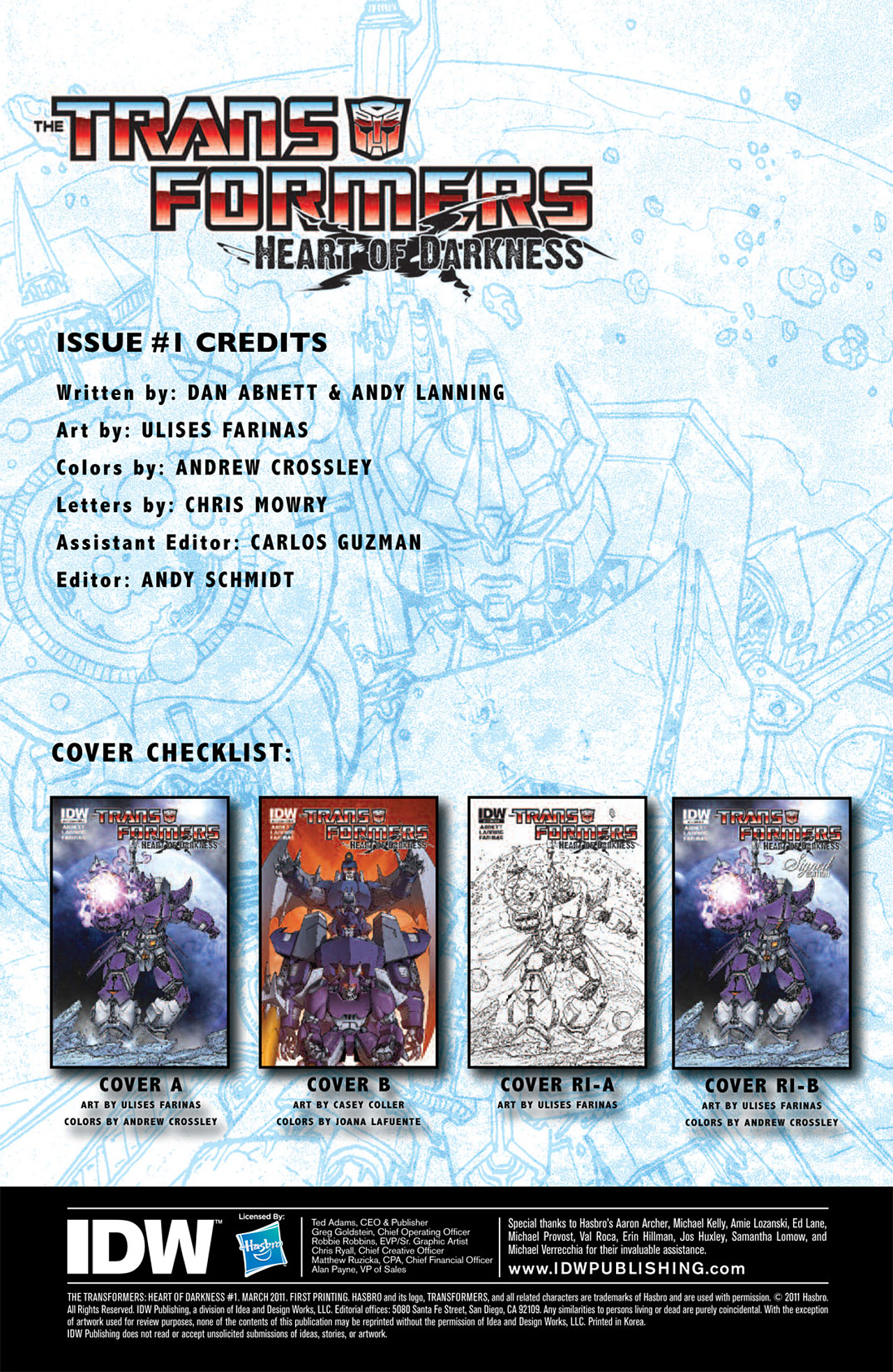 Read online Transformers: Heart of Darkness comic -  Issue #1 - 5