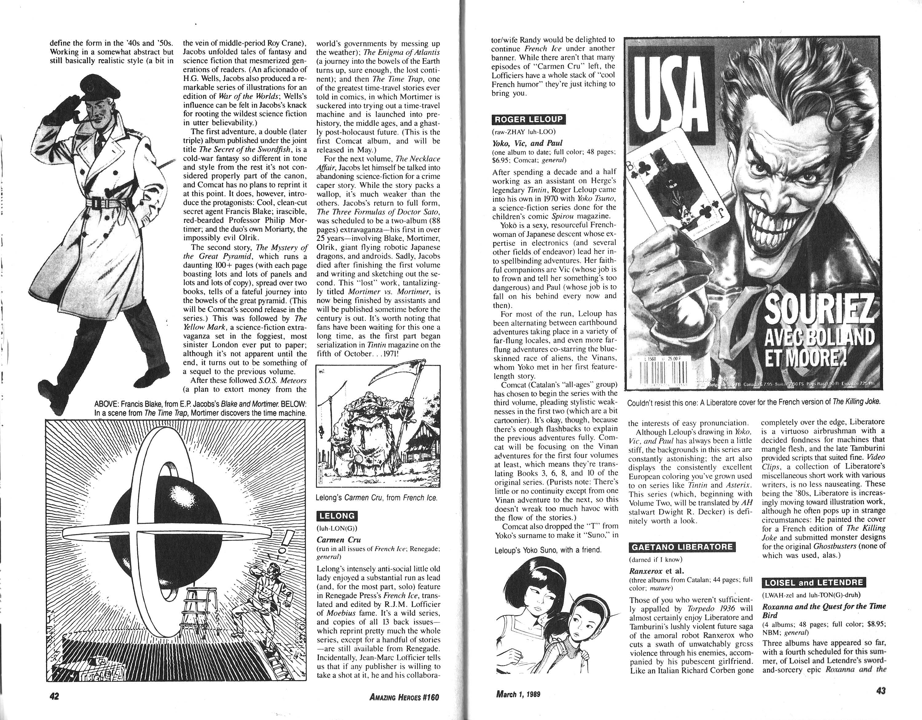 Read online Amazing Heroes comic -  Issue #160 - 22