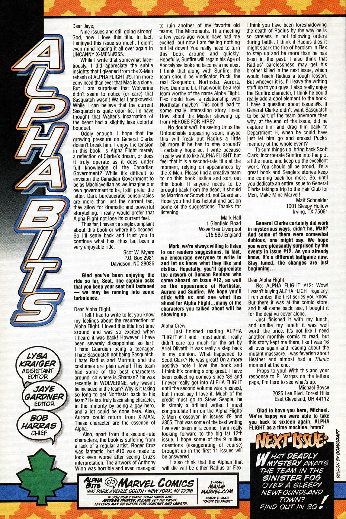 Read online Alpha Flight (1997) comic -  Issue #14 - 34