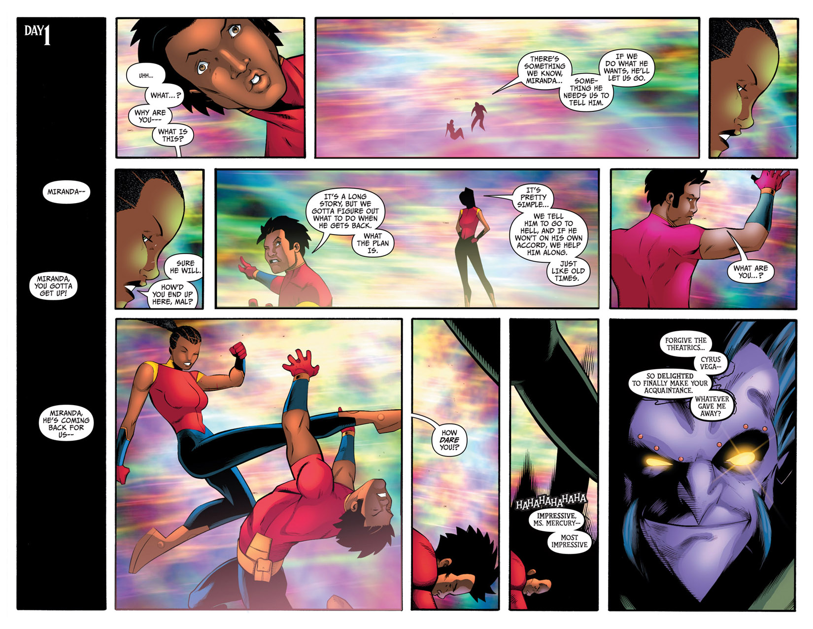 Read online The Many Adventures of Miranda Mercury: Time Runs Out comic -  Issue # TPB - 157