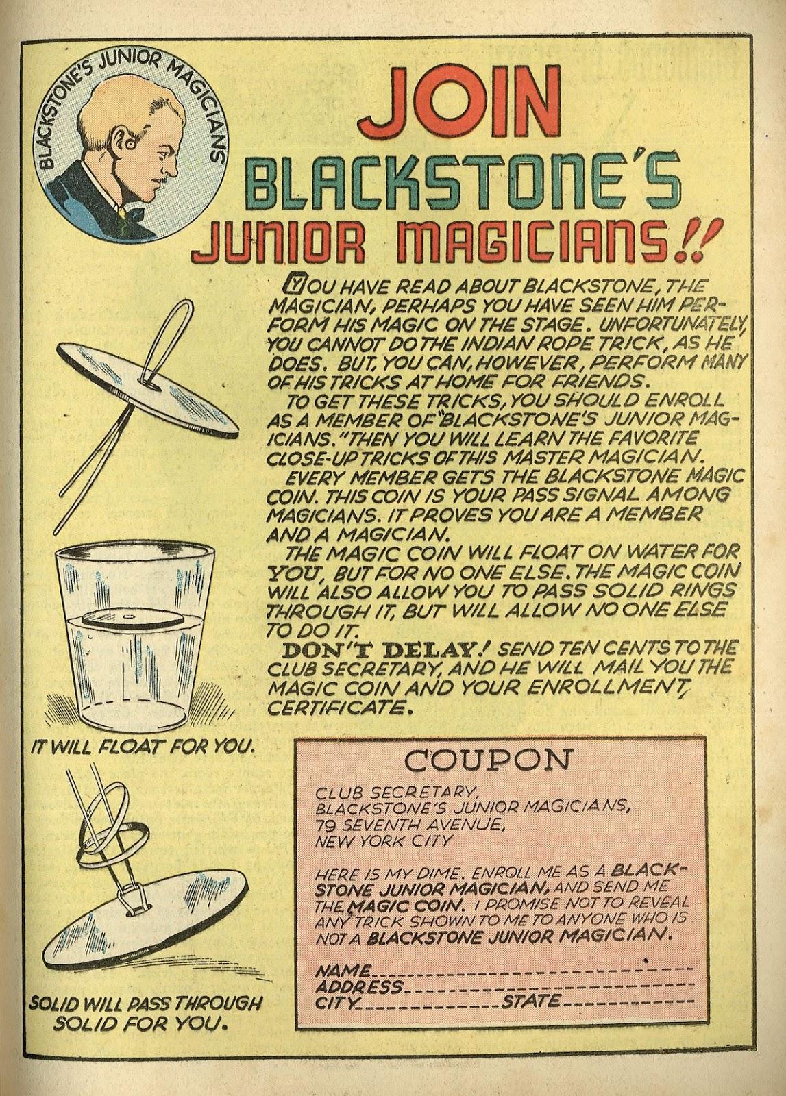 Read online Super-Magician Comics comic -  Issue #1 - 47