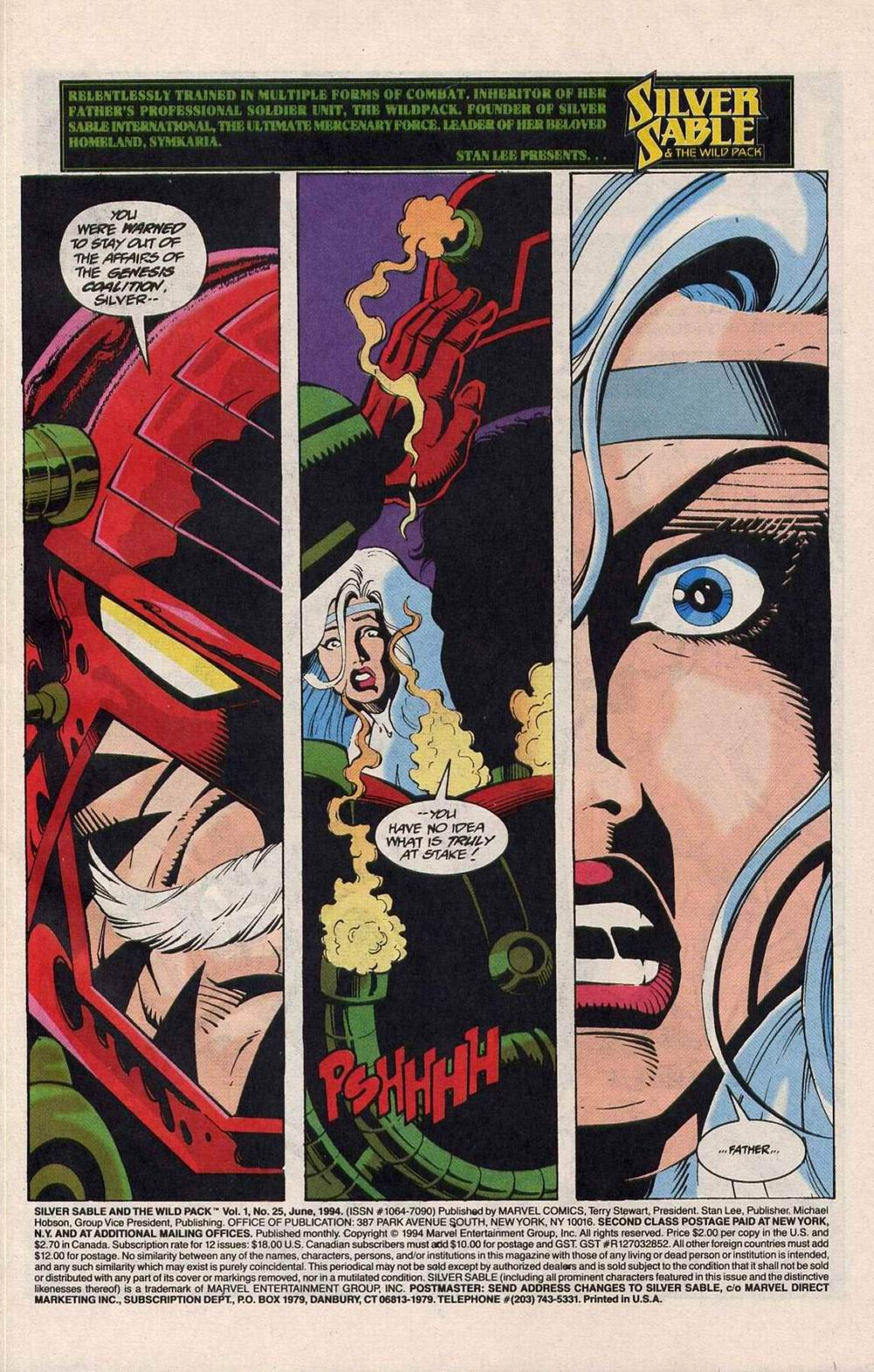 Read online Silver Sable and the Wild Pack comic -  Issue #25 - 2