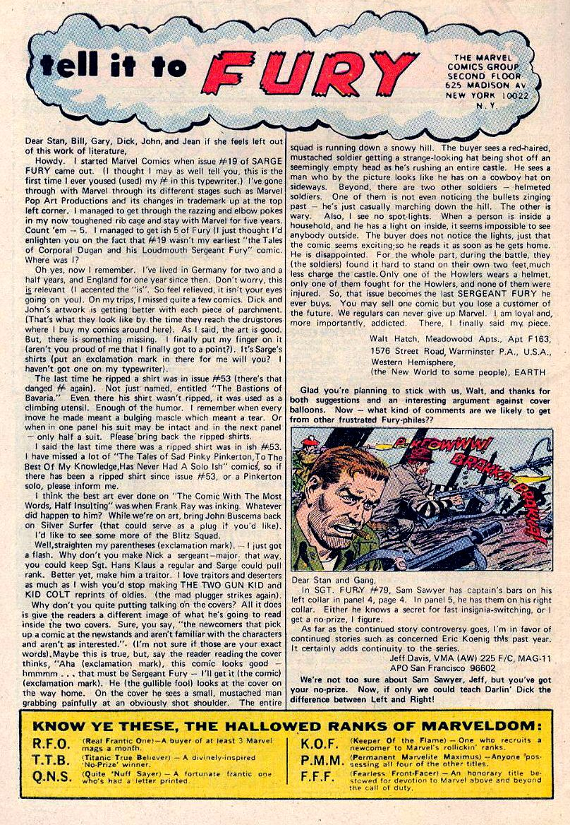 Read online Sgt. Fury comic -  Issue #84 - 32