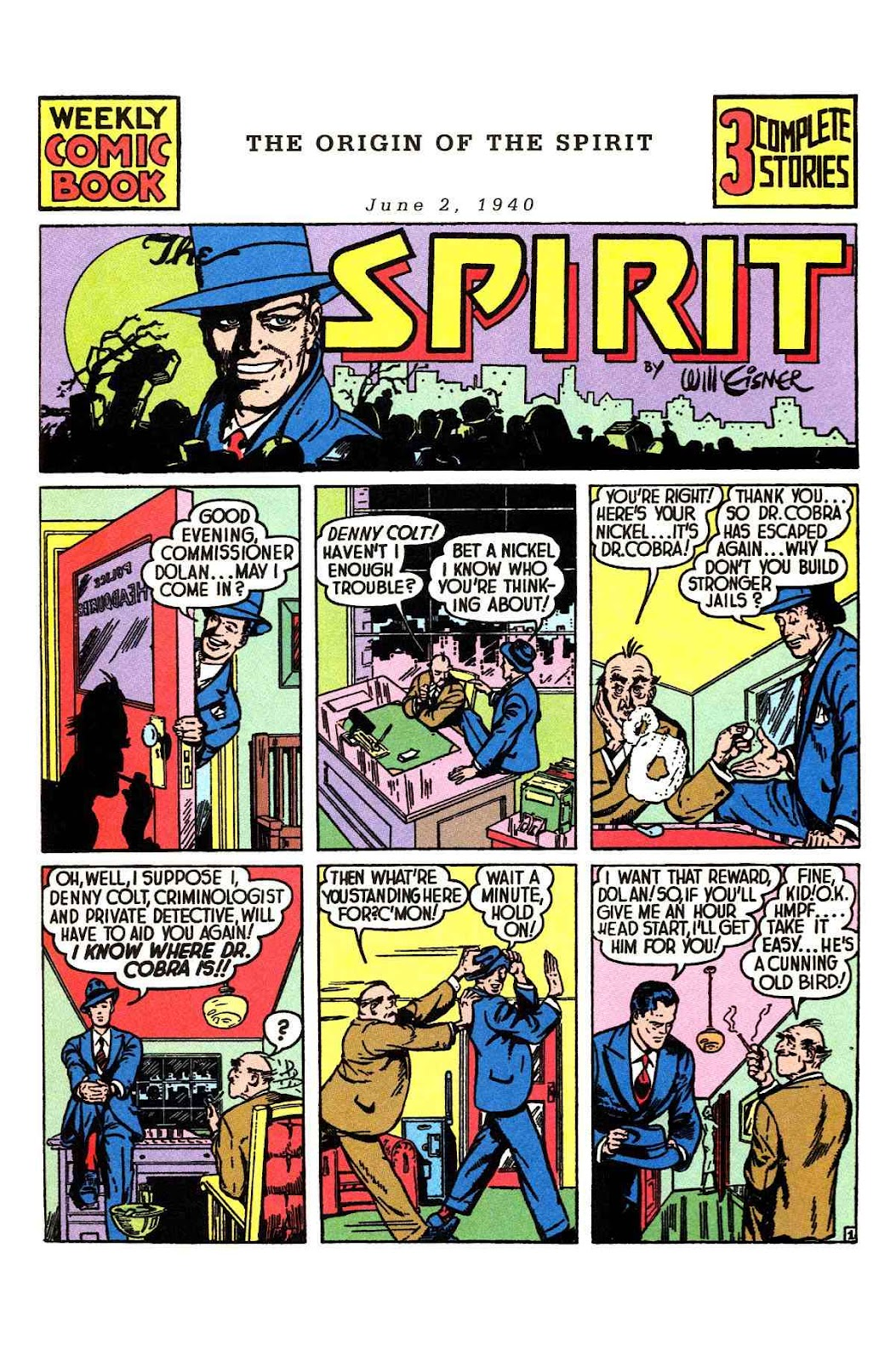 Read online Will Eisner's The Spirit Archives comic -  Issue # TPB 1 (Part 1) - 2