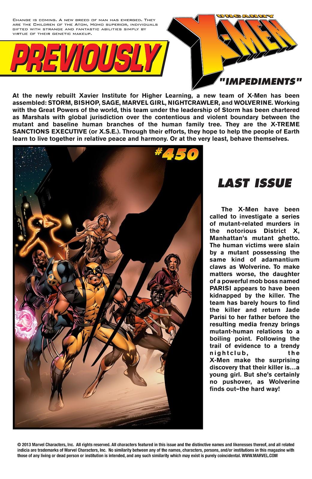 Uncanny X-Men (1963) issue 451 - Page 2
