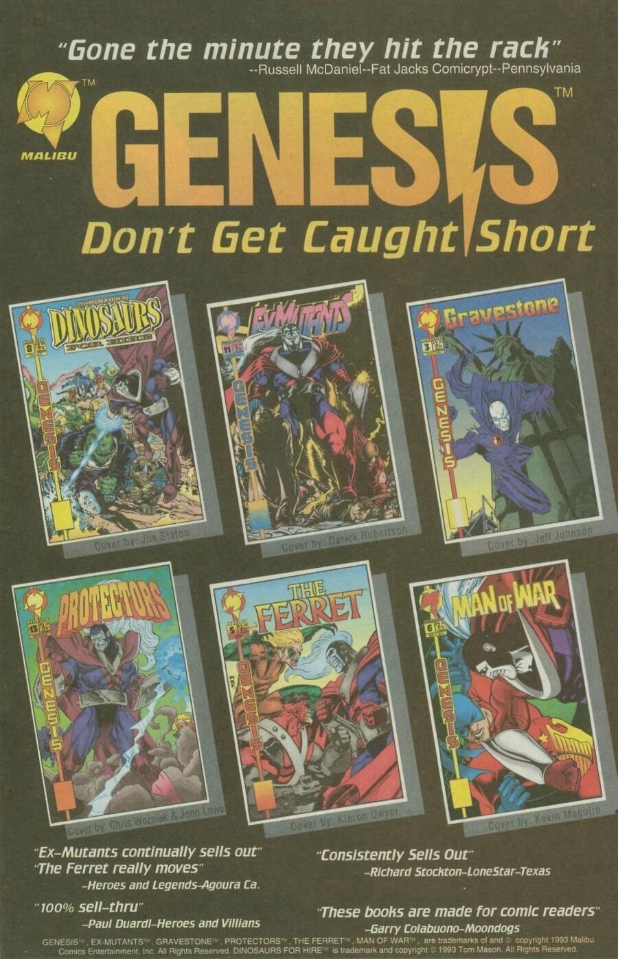 Read online Ex-Mutants comic -  Issue #9 - 11