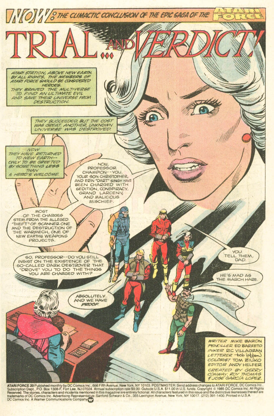 Read online Atari Force (1984) comic -  Issue #20 - 3