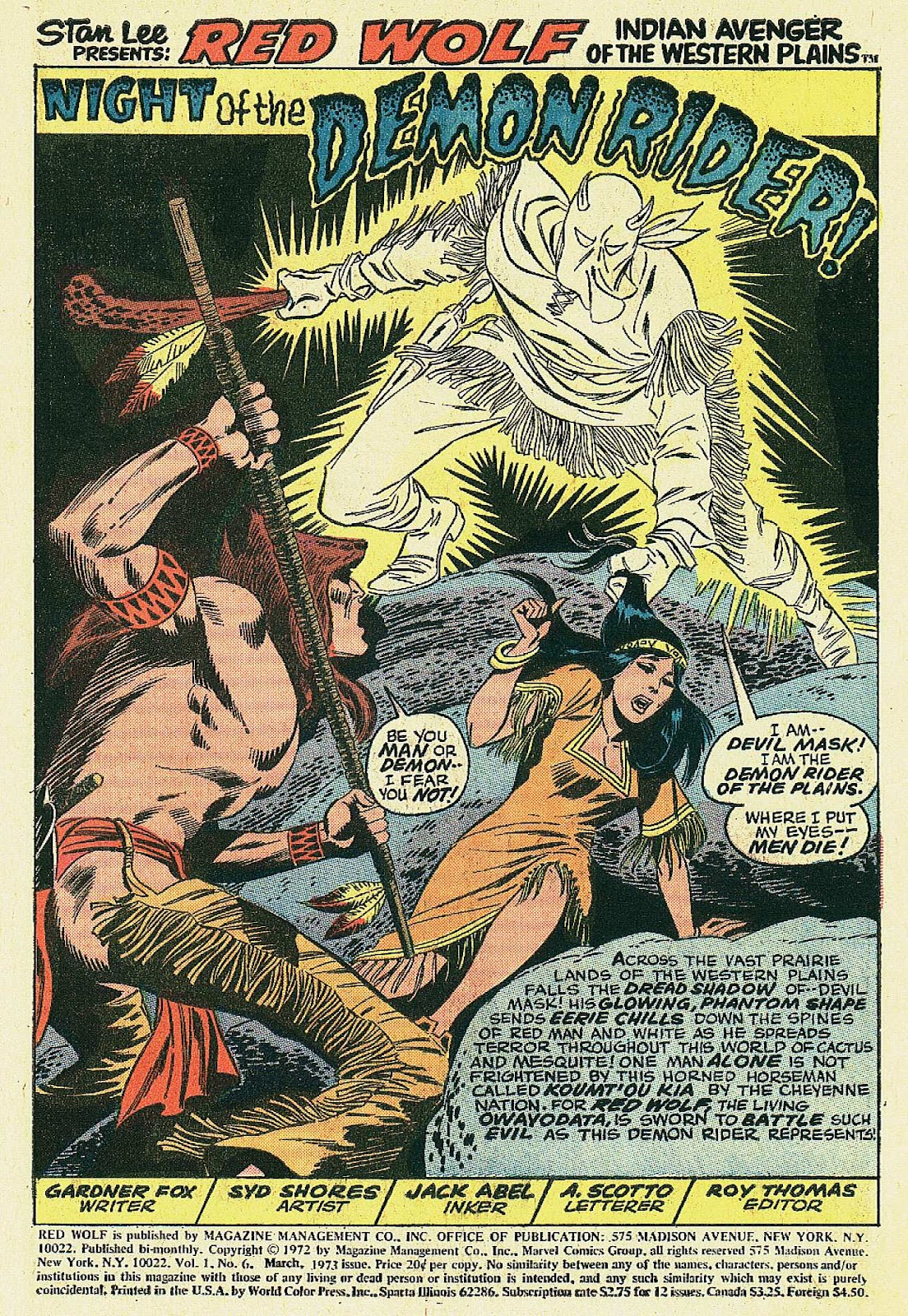 Red Wolf (1972) issue 6 - Page 2