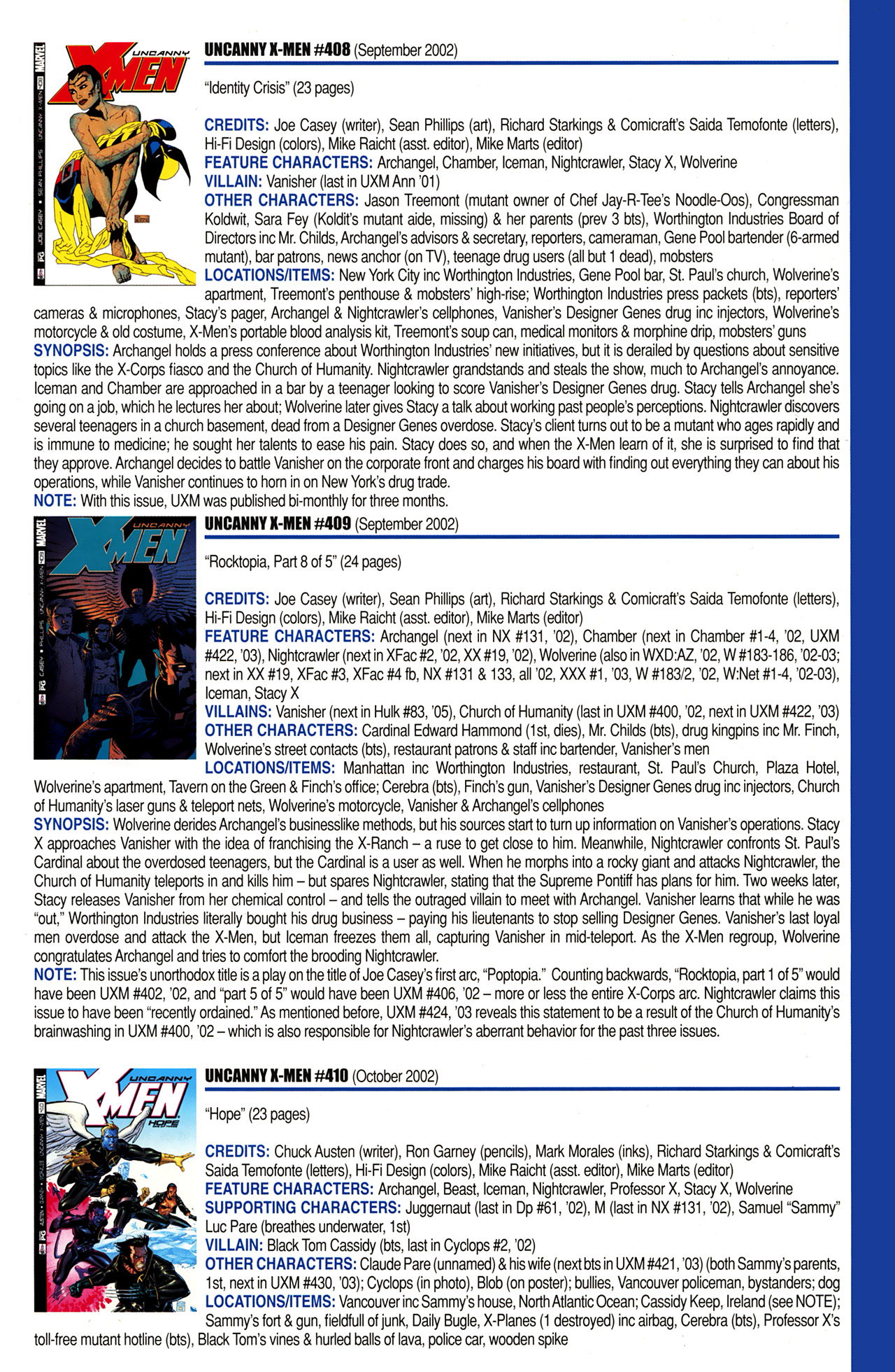 Read online Official Index to the Marvel Universe comic -  Issue #10 - 65
