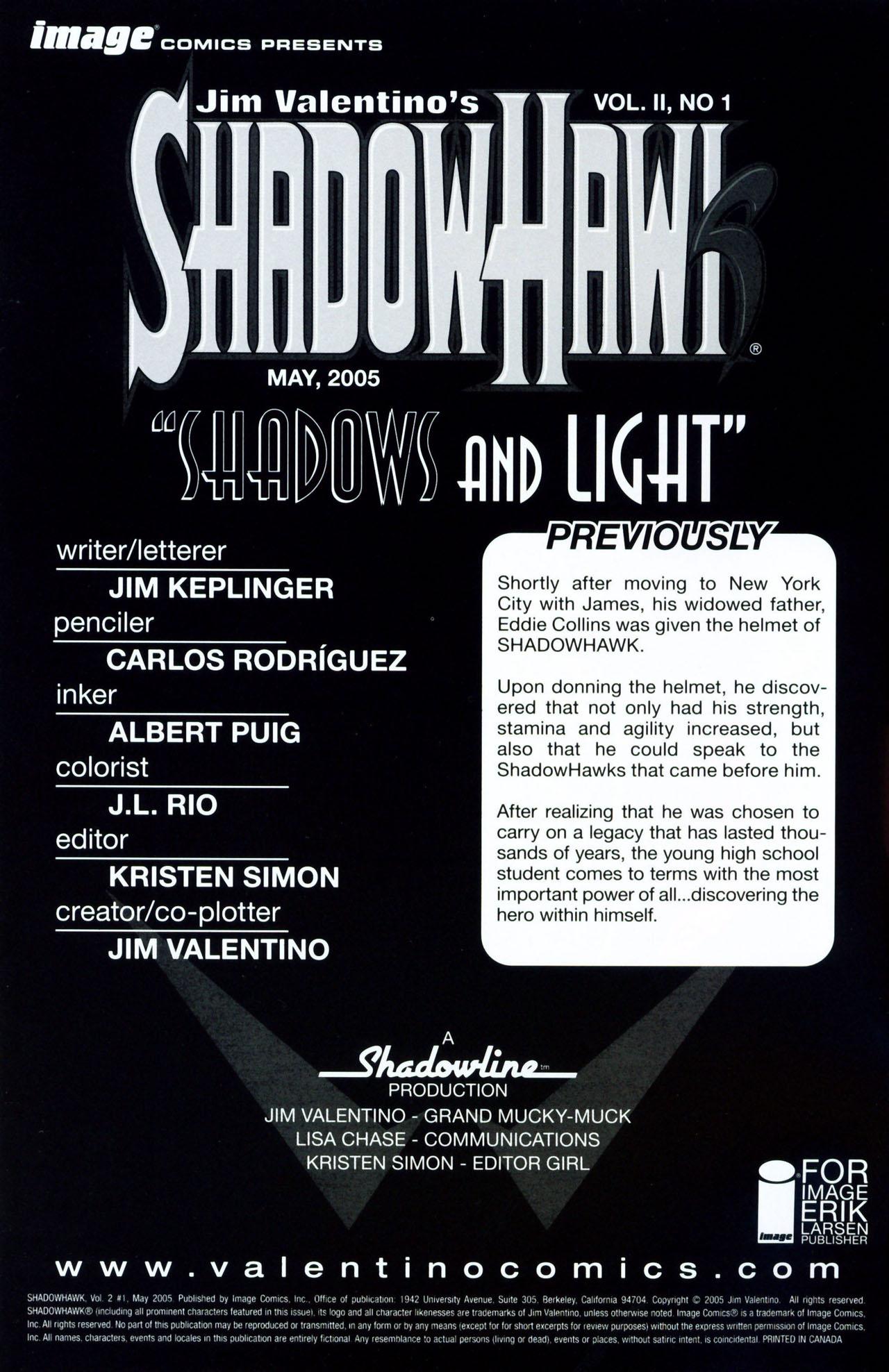 Read online ShadowHawk (2005) comic -  Issue #1 - 2