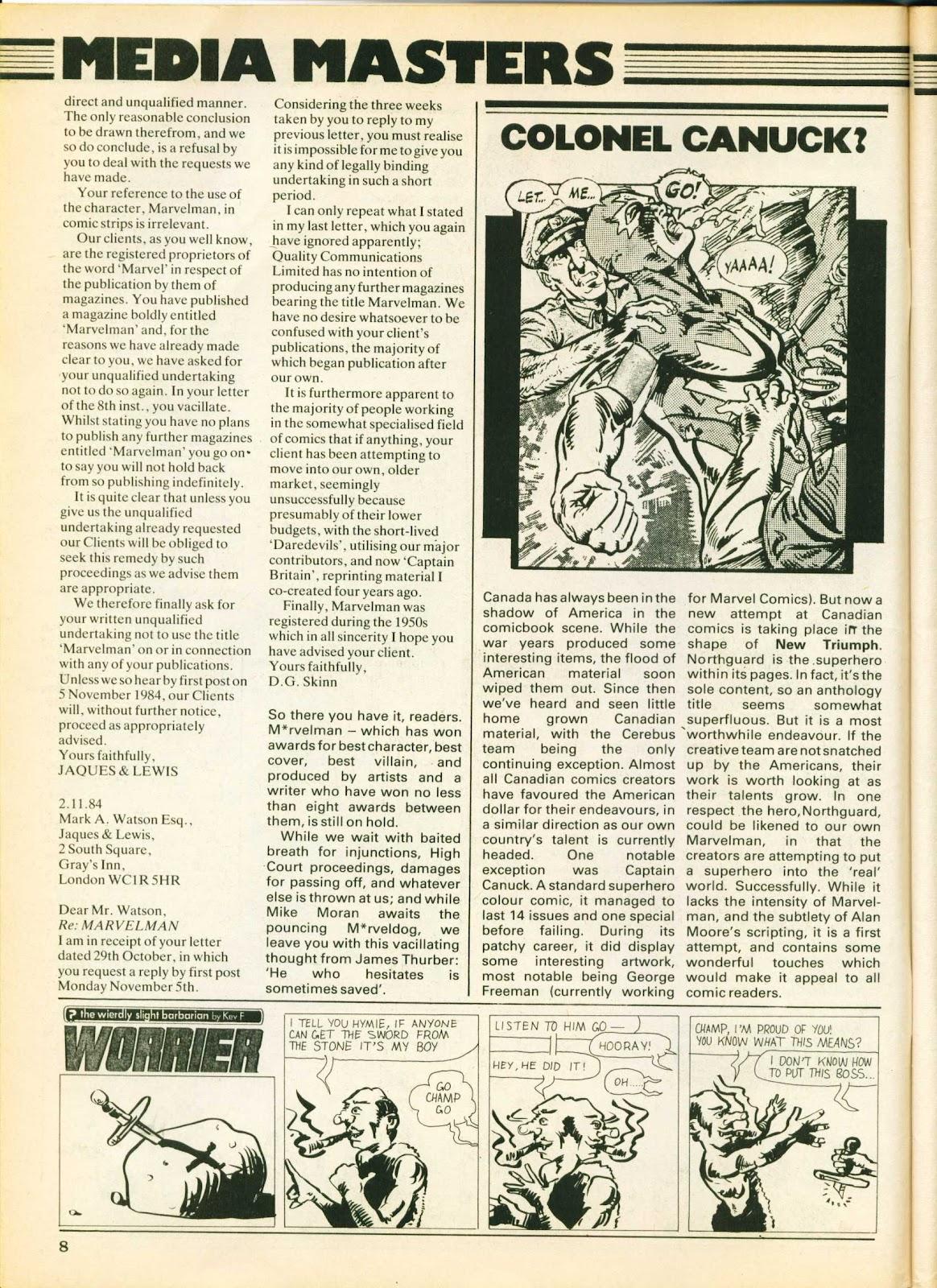 Warrior Issue #26 #27 - English 8