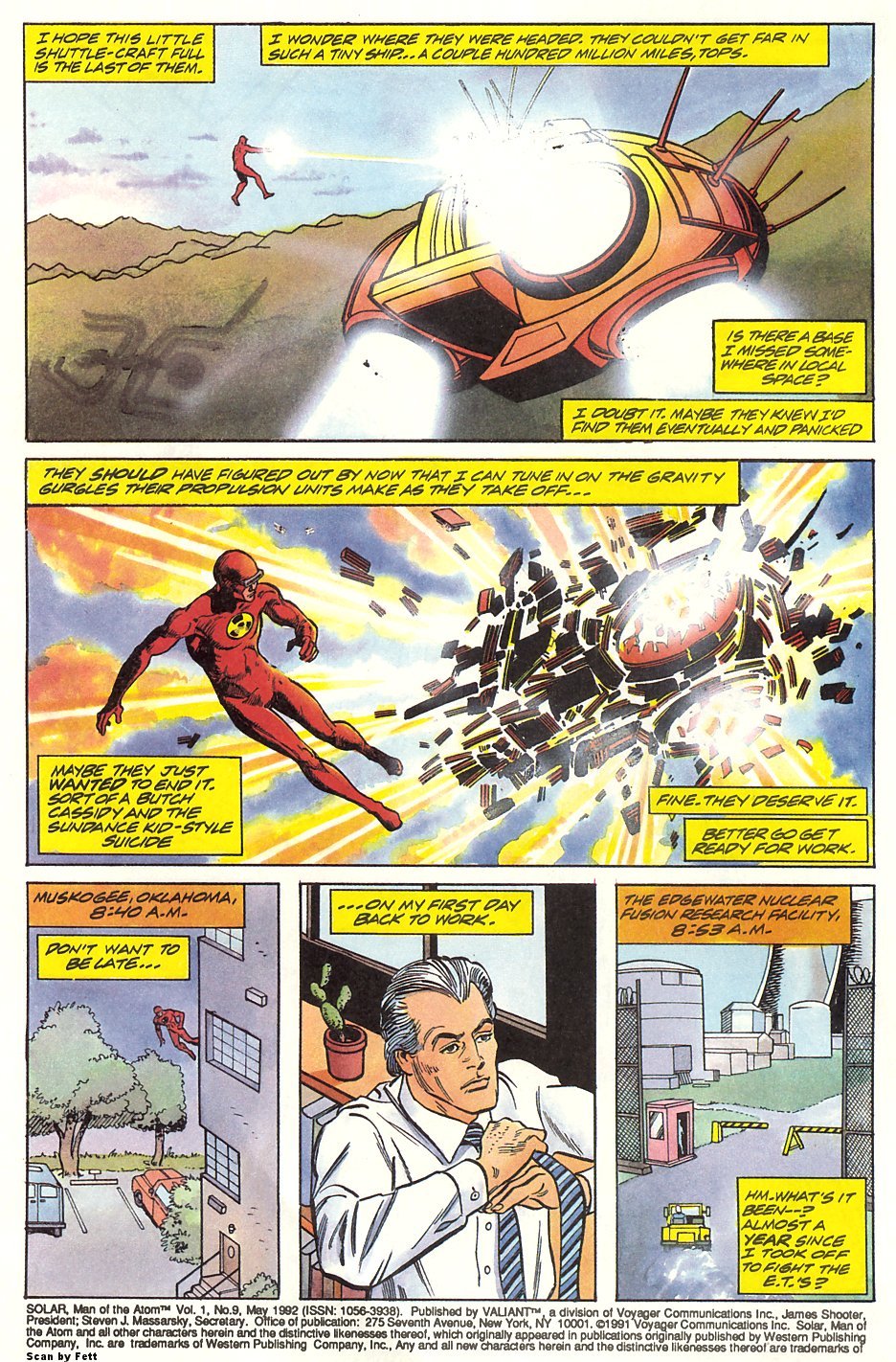 Read online Solar, Man of the Atom comic -  Issue #9 - 4