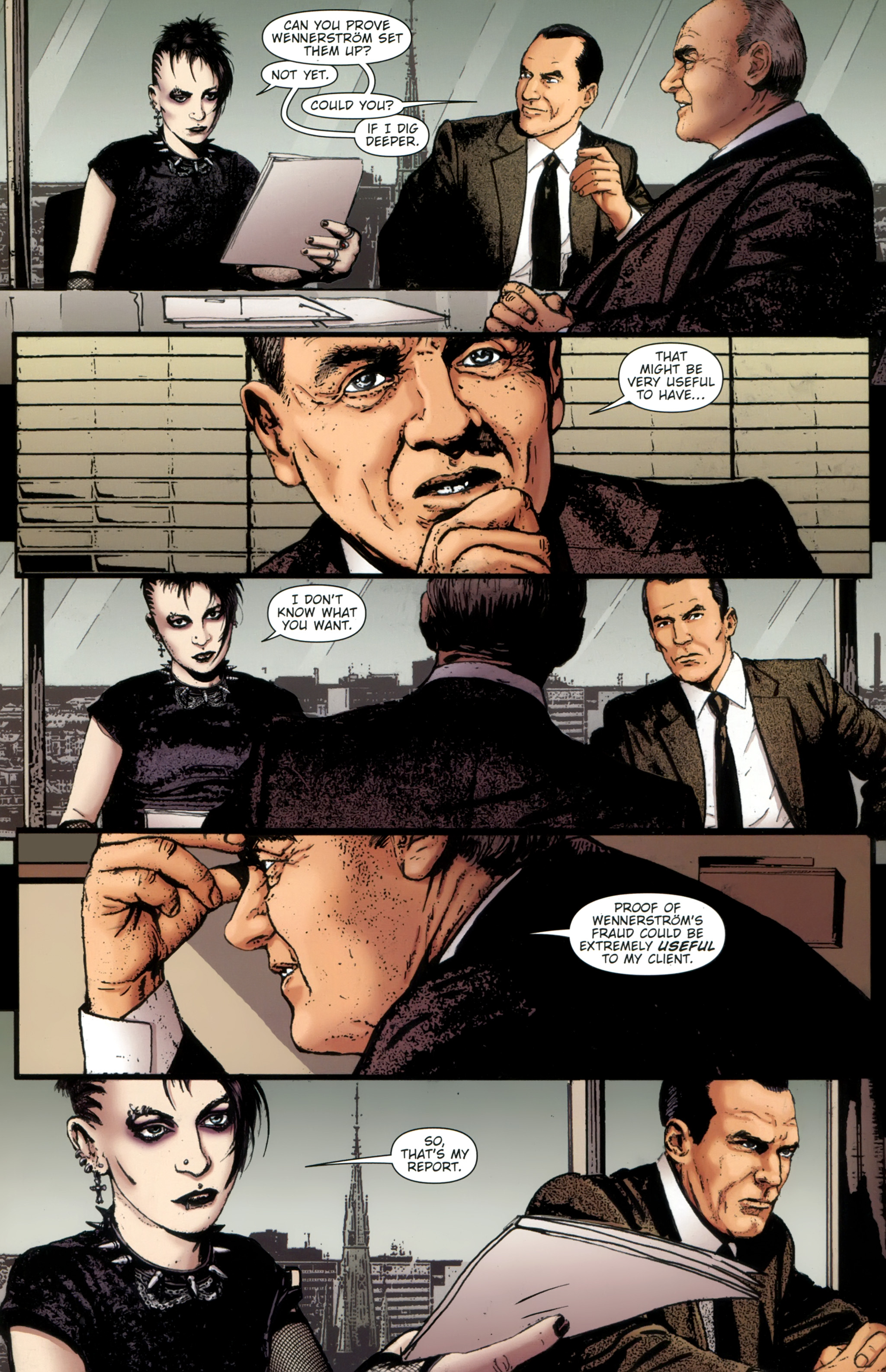 Read online The Girl With the Dragon Tattoo comic -  Issue # TPB 1 - 24
