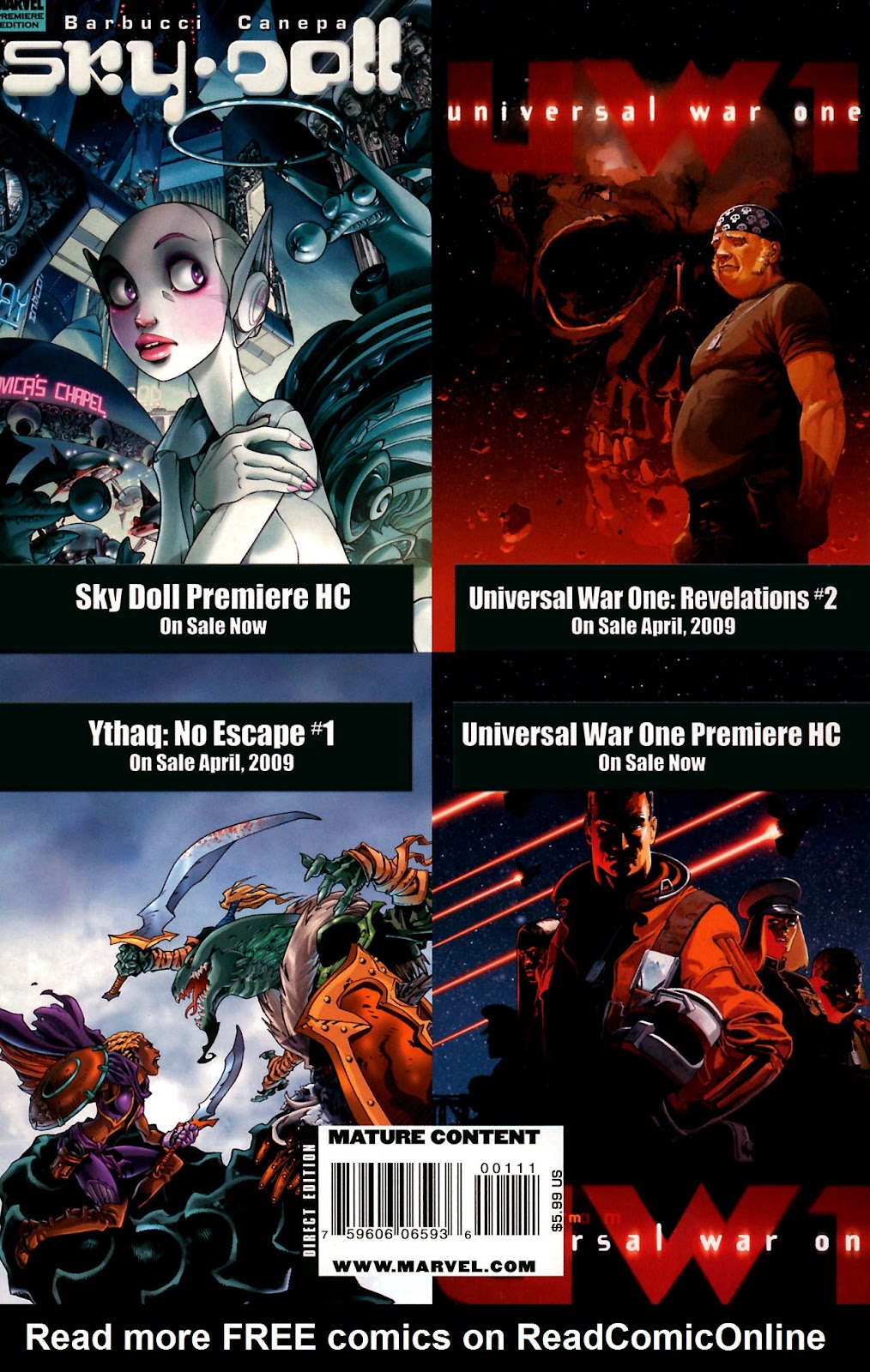 Read online Universal War One: Revelations comic -  Issue #1 - 53