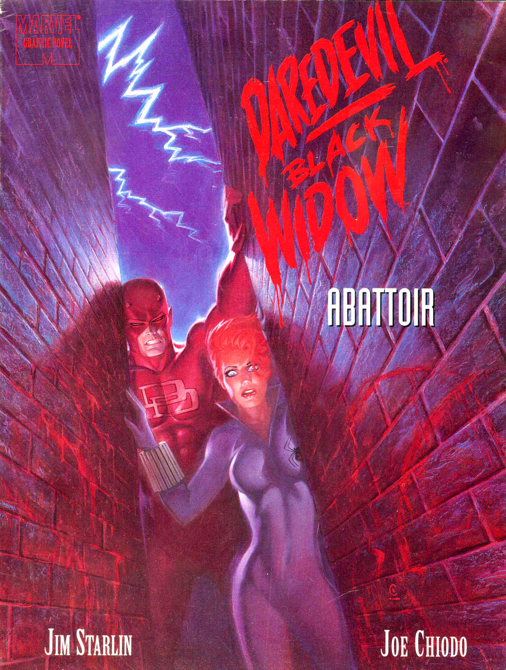 Marvel Graphic Novel 75_-_Daredevil_Black_Widow_-_Abattoir Page 1