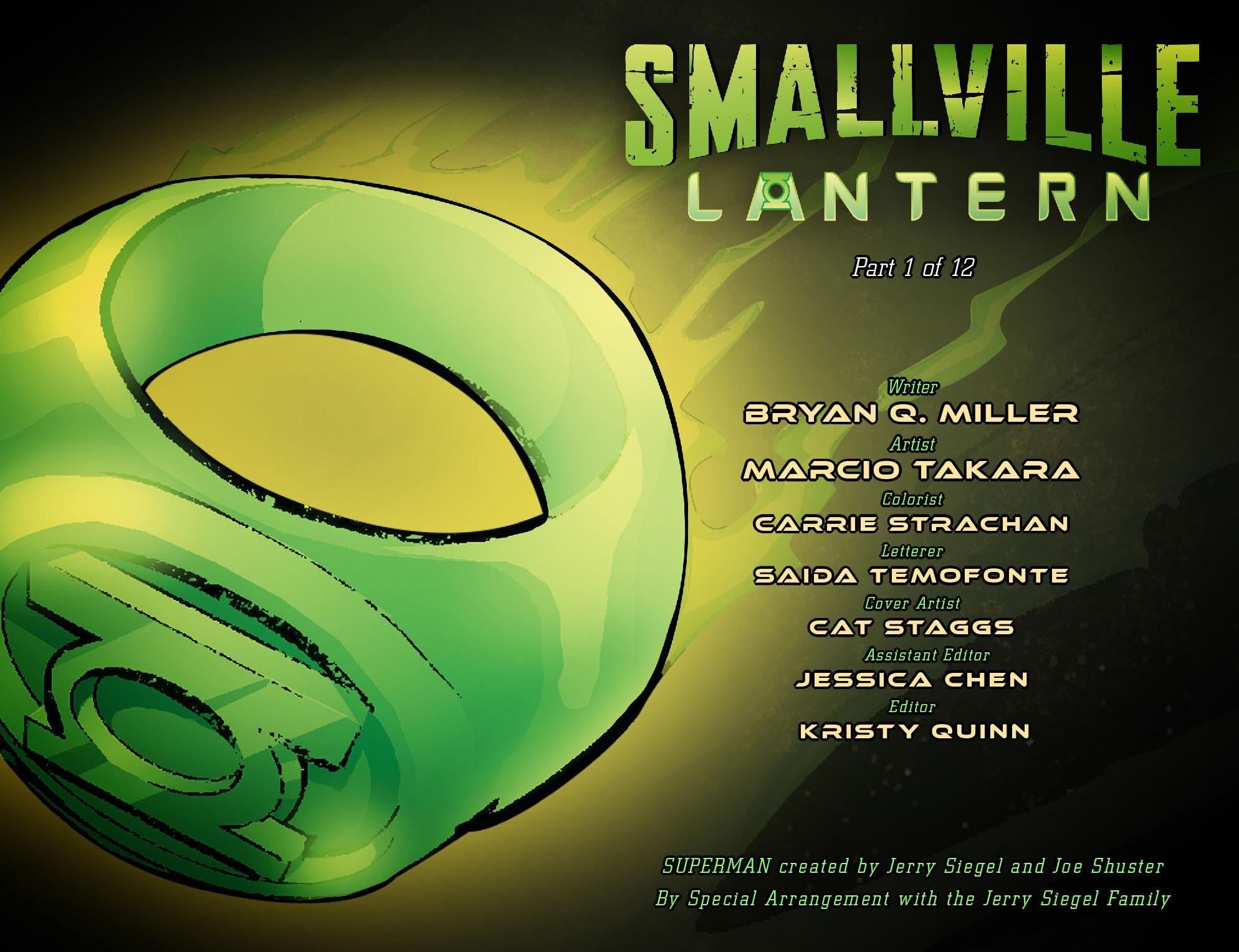Read online Smallville: Lantern [I] comic -  Issue #1 - 2