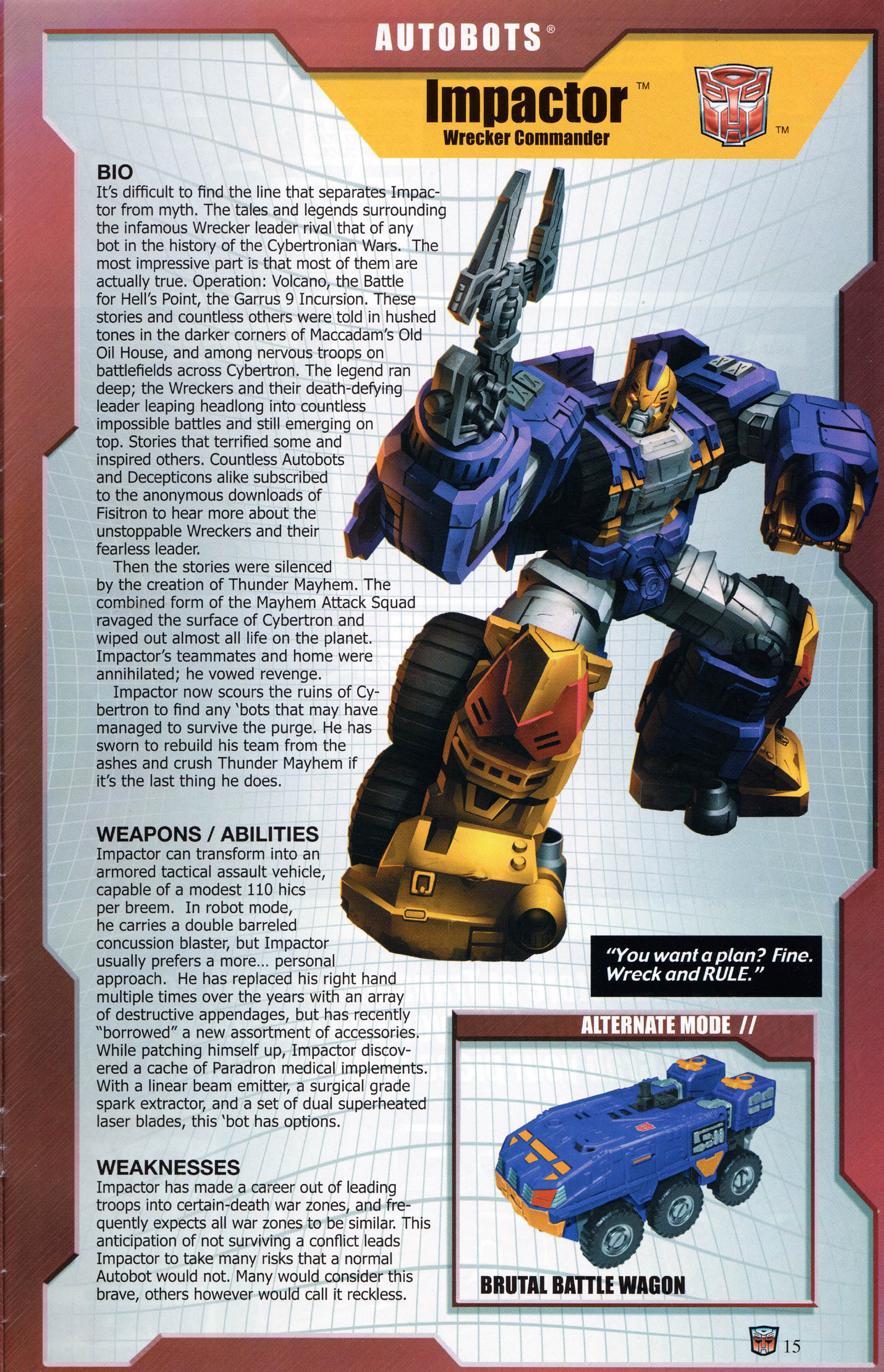 Read online Transformers: Collectors' Club comic -  Issue #68 - 15