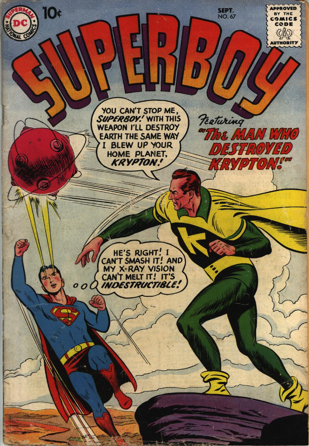Superboy (1949) issue 67 - Page 1