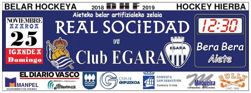 2018-11-25 Real Sociedad - Club EGARA. Faldón publicado en Pág. 80 del DV del sábado 24.