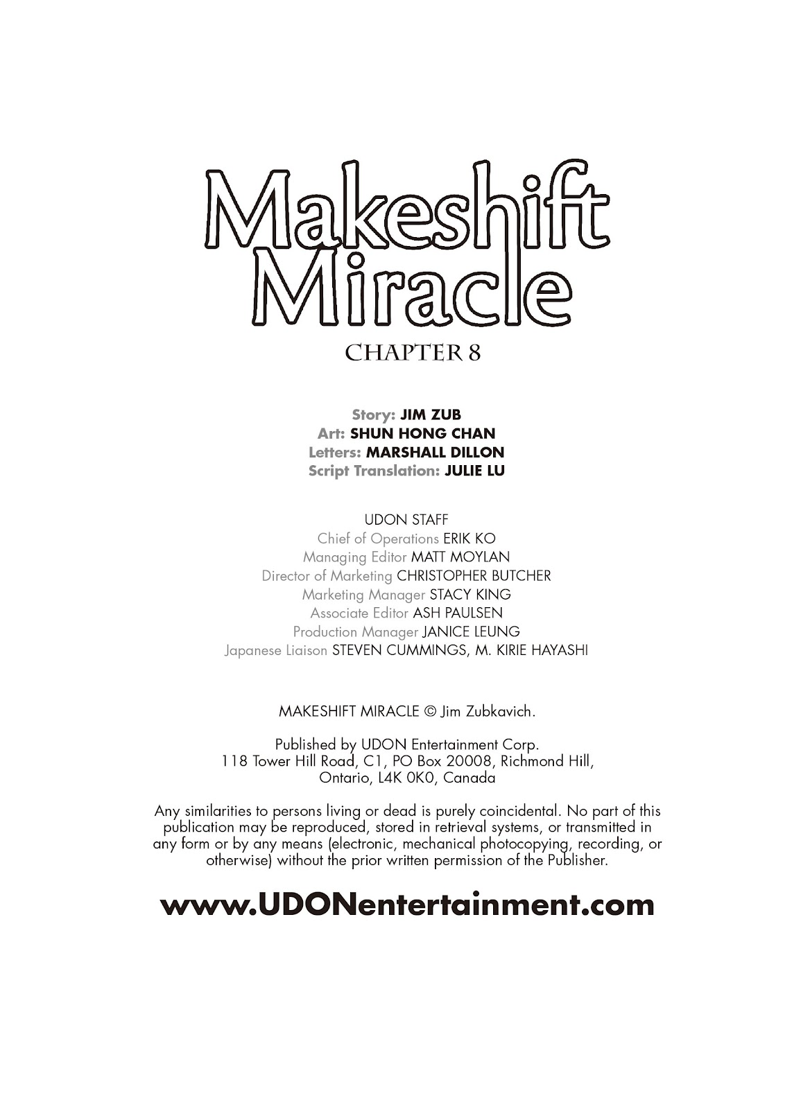 Read online Makeshift Miracle: The Girl From Nowhere comic -  Issue #8 - 2