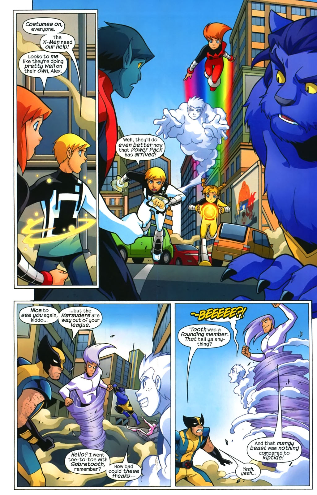Read online X-Men and Power Pack comic -  Issue #4 - 4