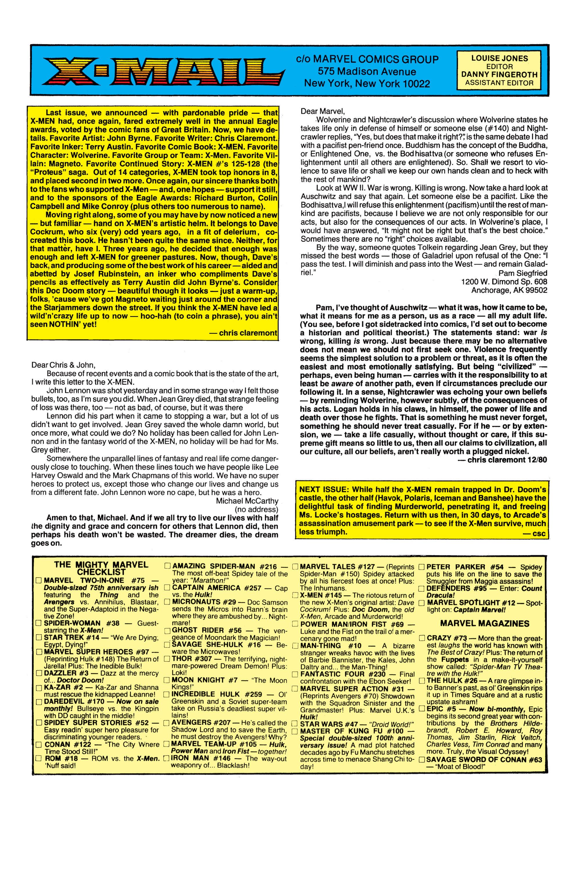 Read online Uncanny X-Men (1963) comic -  Issue #145 - 24