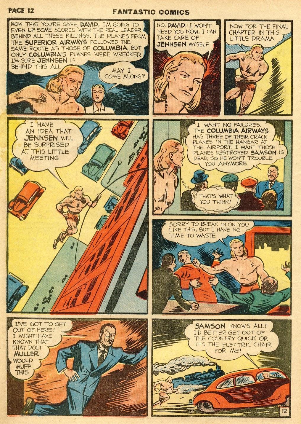 Read online Fantastic Comics comic -  Issue #10 - 13